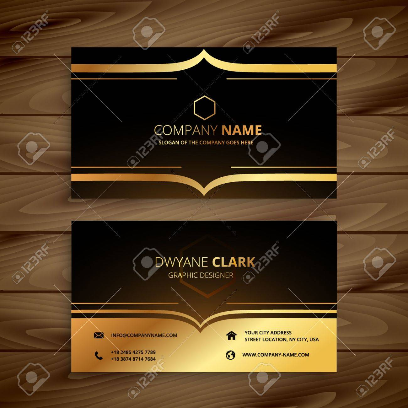 Luxury Business Card Royalty Free Cliparts, Vectors, And Stock ...