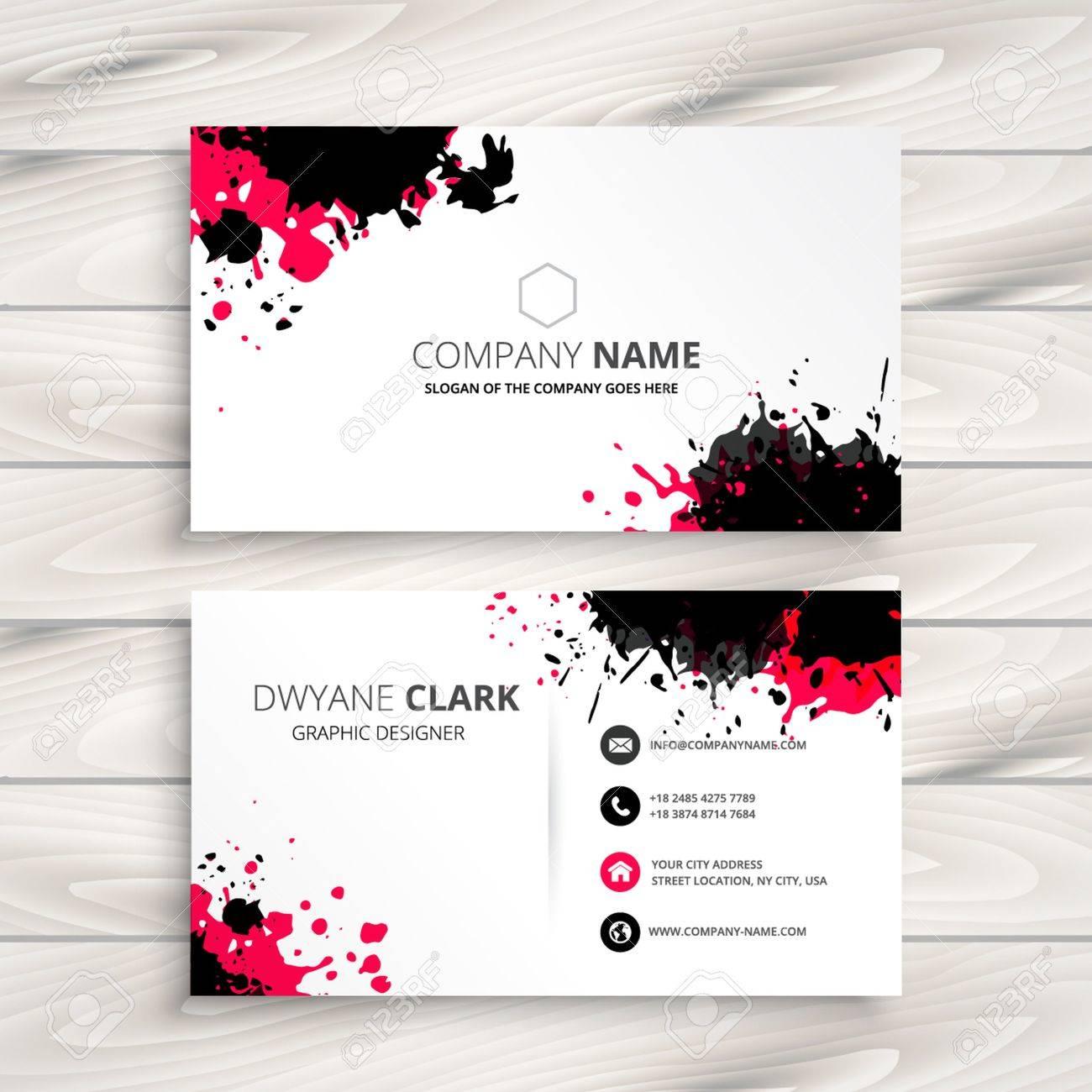ink splash business card - 53482092