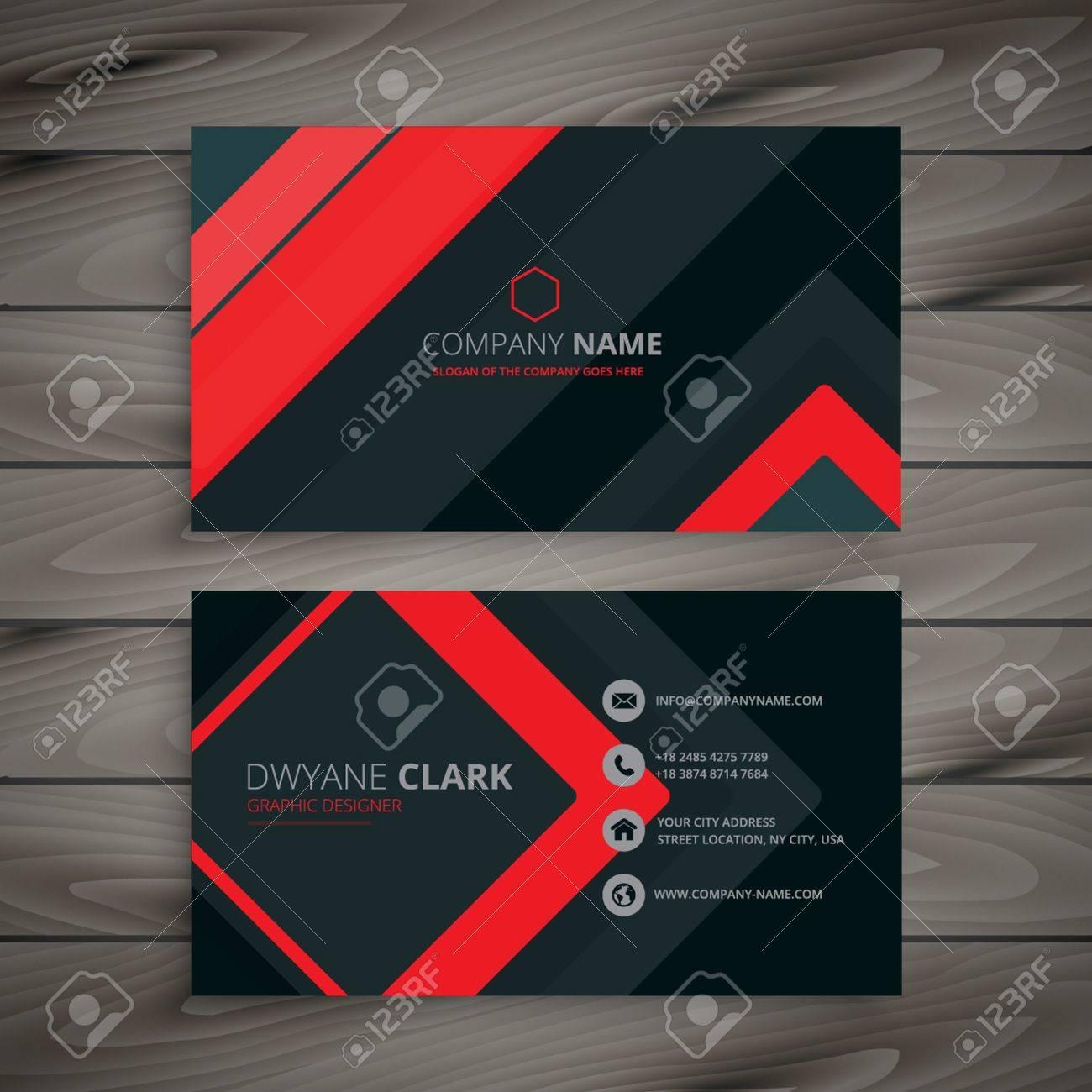 minimal dark business card design - 53482124