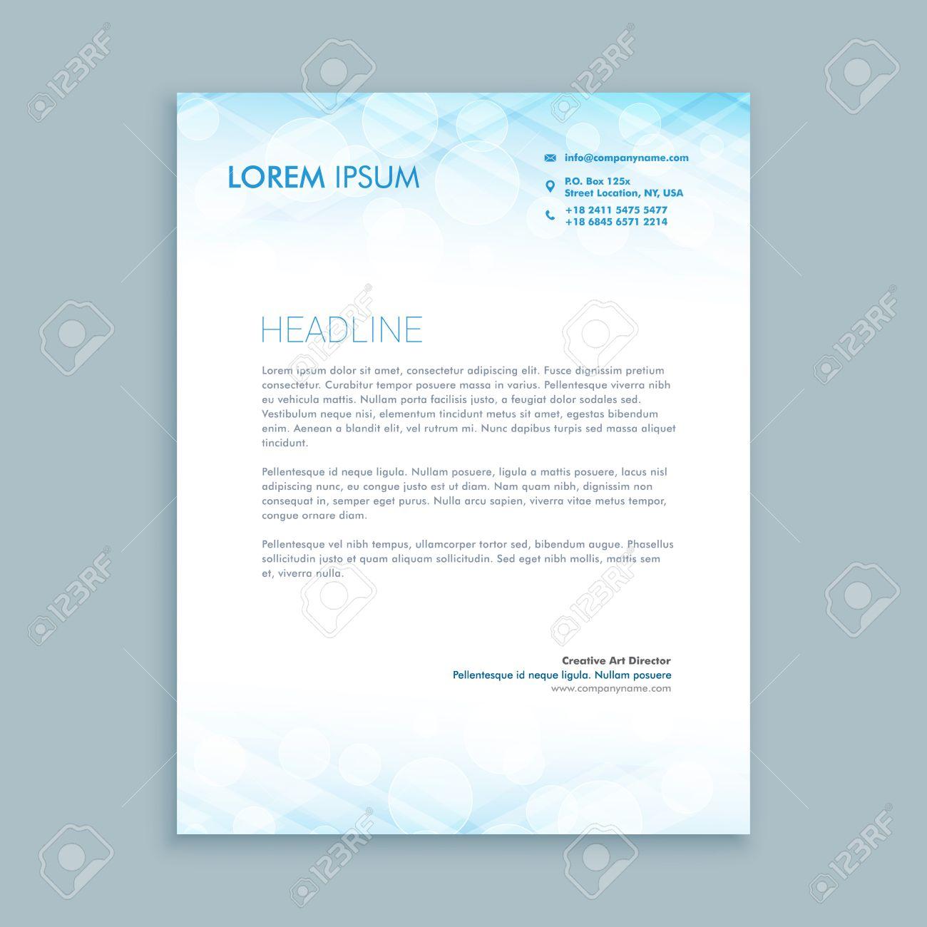 coporate business letterhead - 55397896