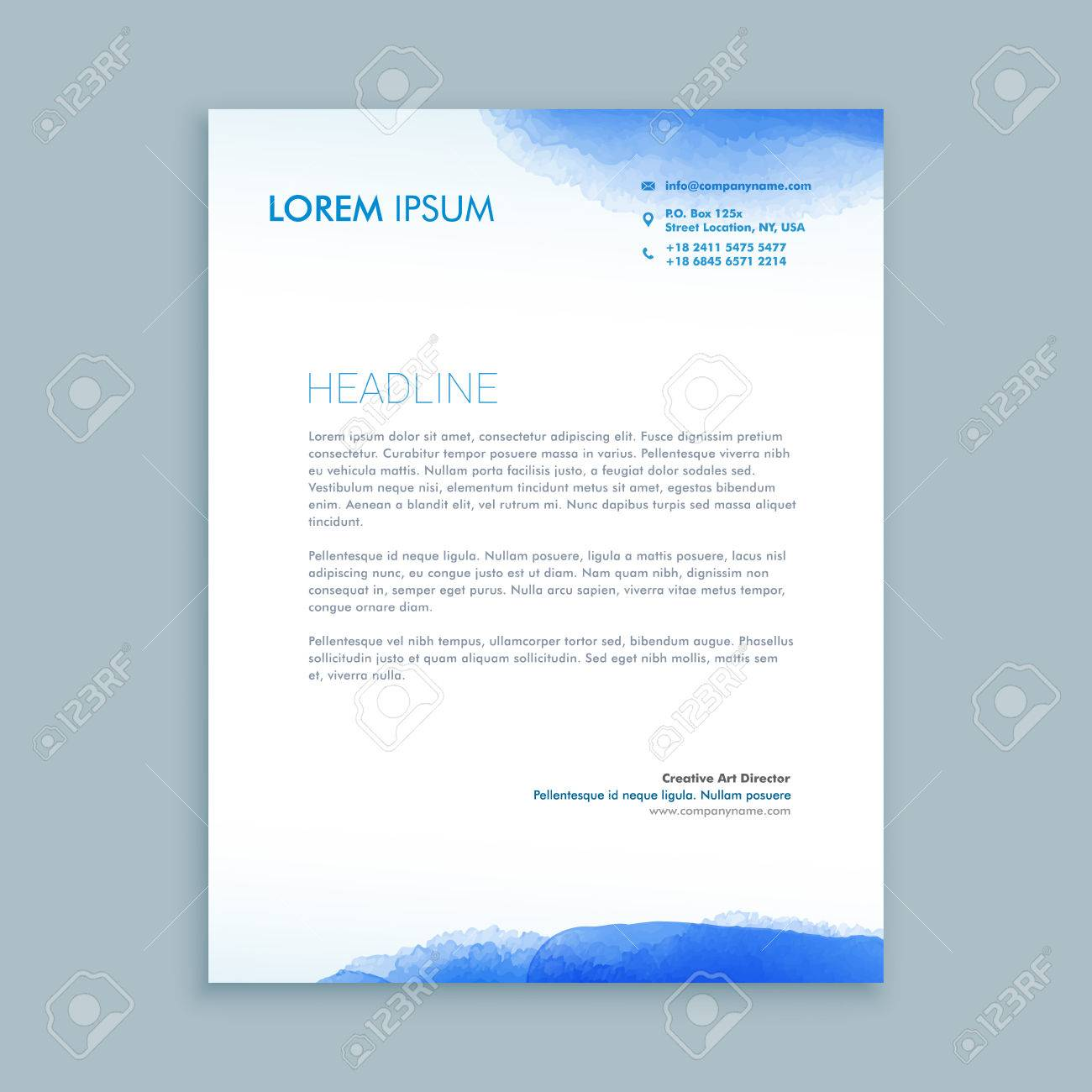 corporate business letterhead template royalty free cliparts