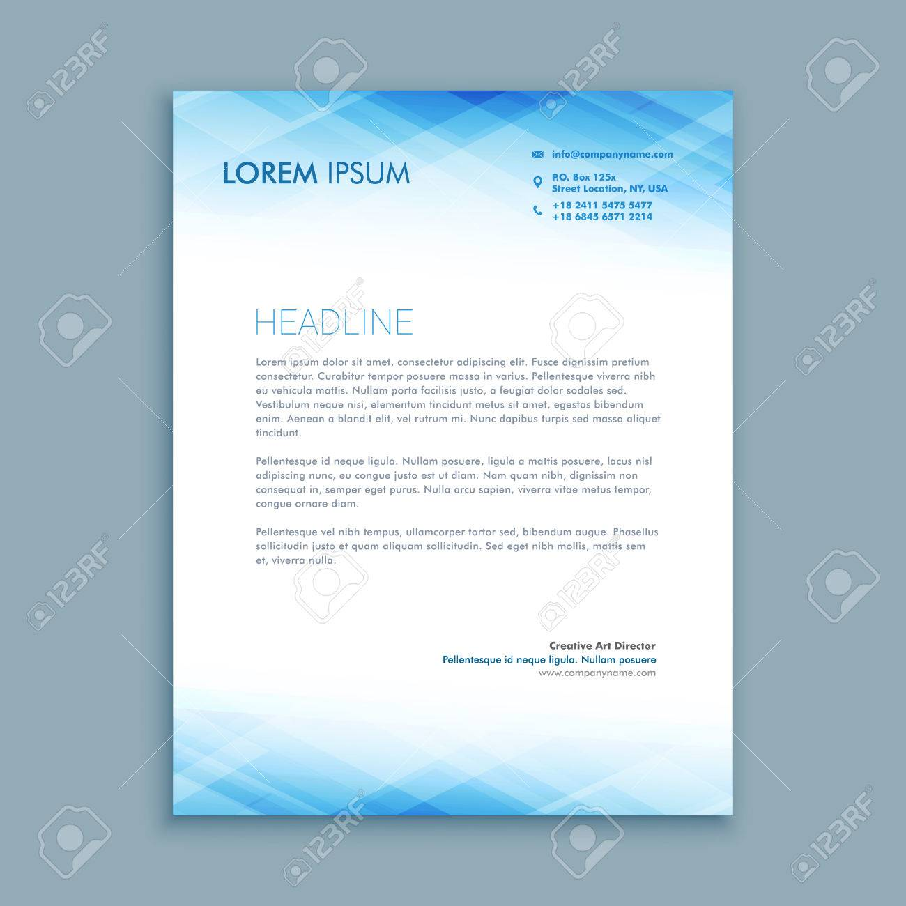 Abstract Business Letterhead Template Royalty Free Cliparts Vectors