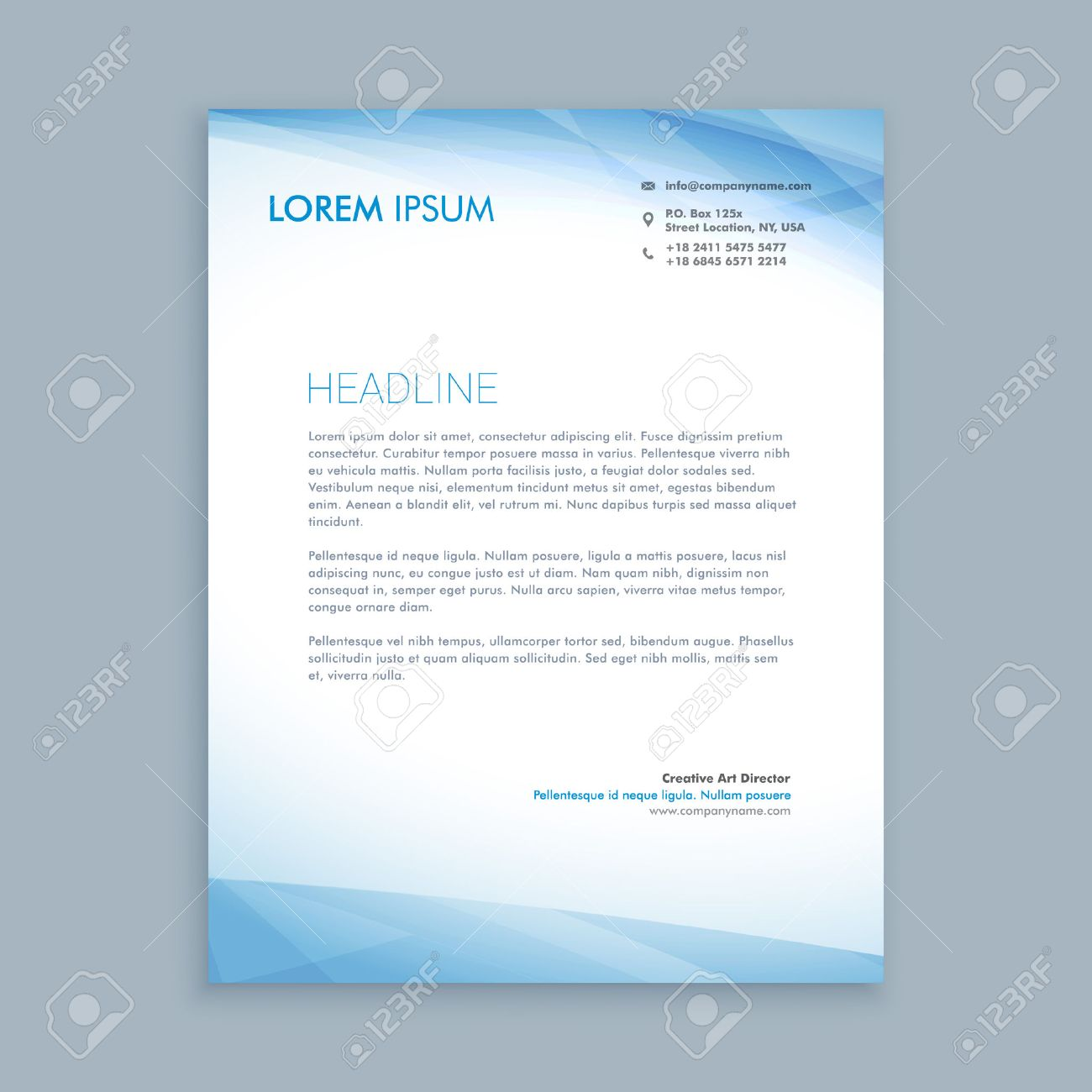 Business Letterhead Royalty Free Cliparts Vectors And Stock
