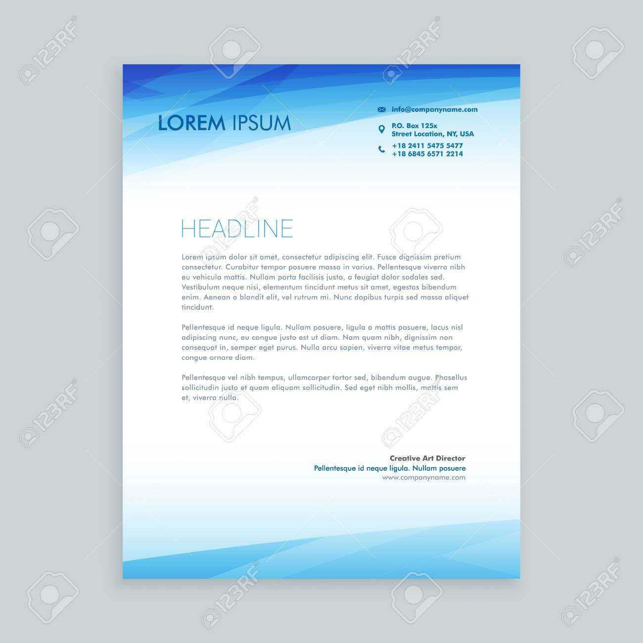 Business Letterhead Design Royalty Free Cliparts Vectors And Stock