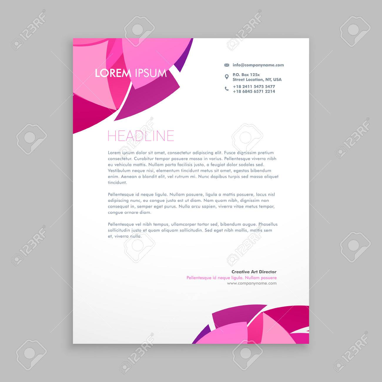 abstract business letterhead design royalty free cliparts vectors