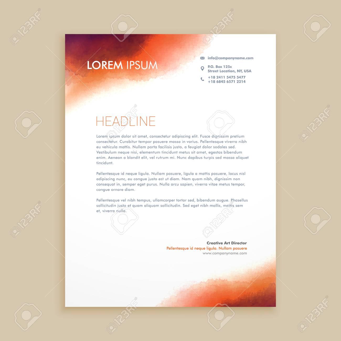 corporate business letterhead - 55398281