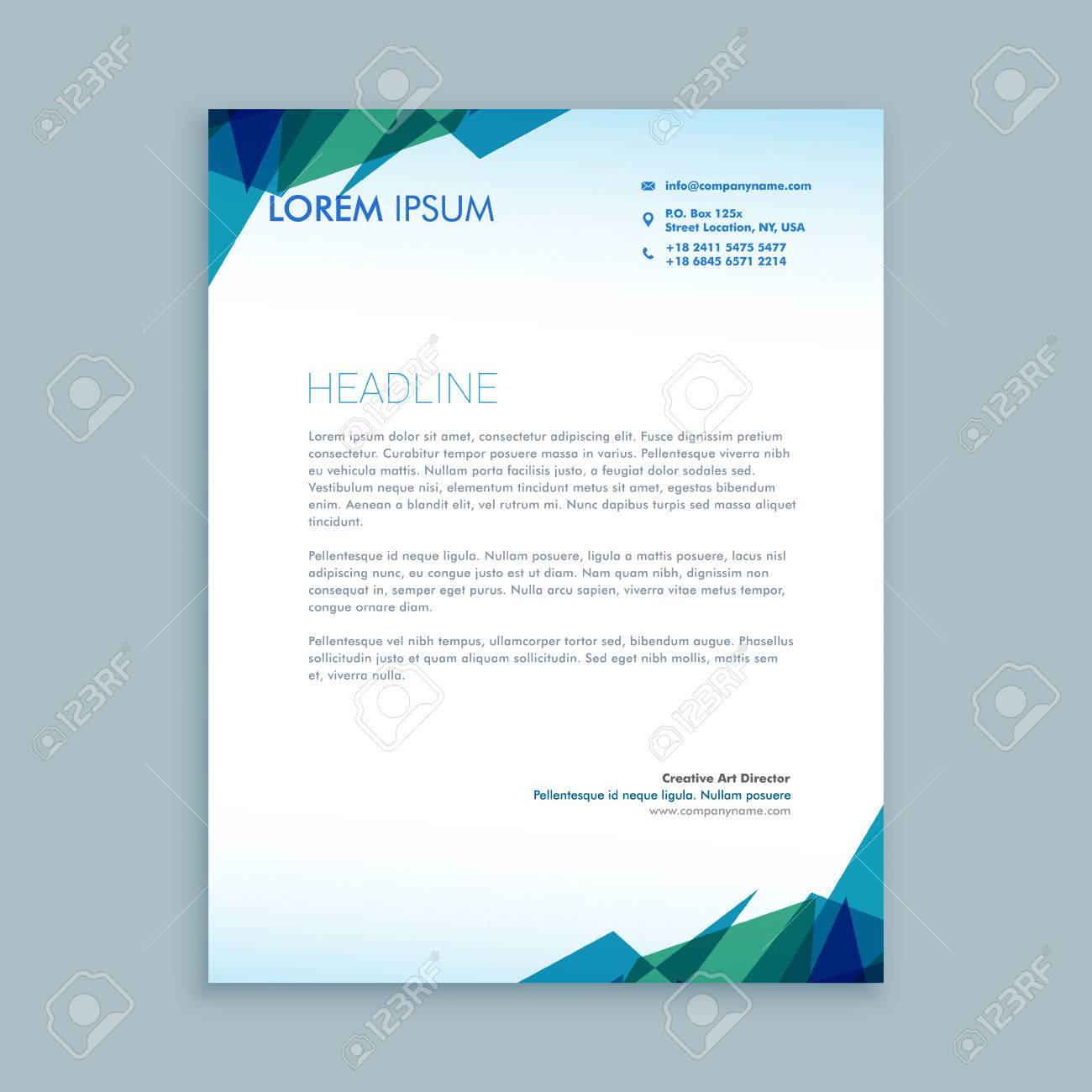 creative abstract letterhead design royalty free cliparts vectors