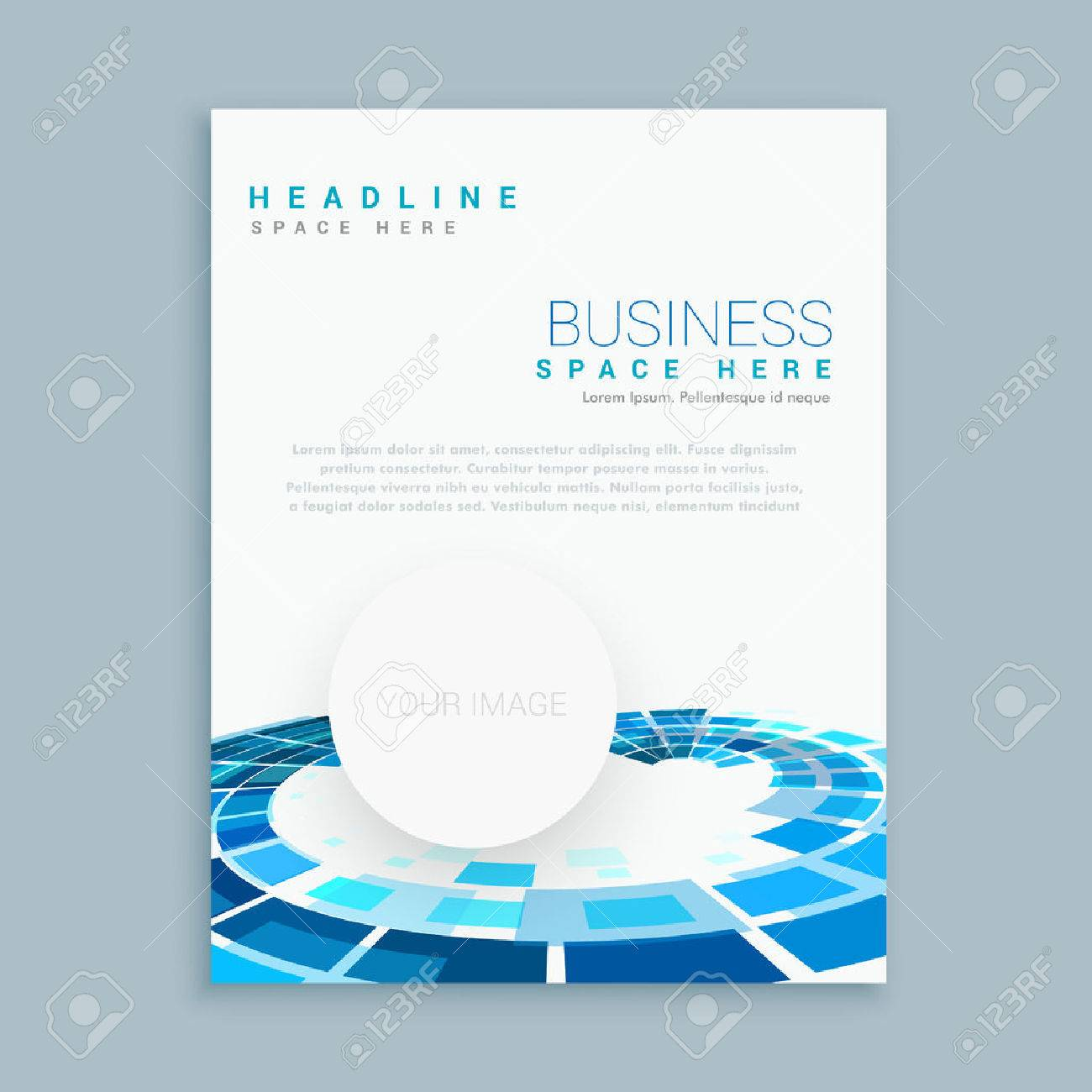 abstract business brochure template - 56317160