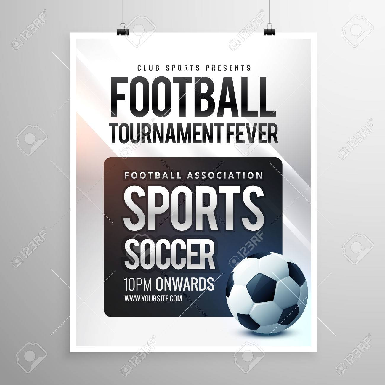 football tournament flyer invitation template royalty free cliparts