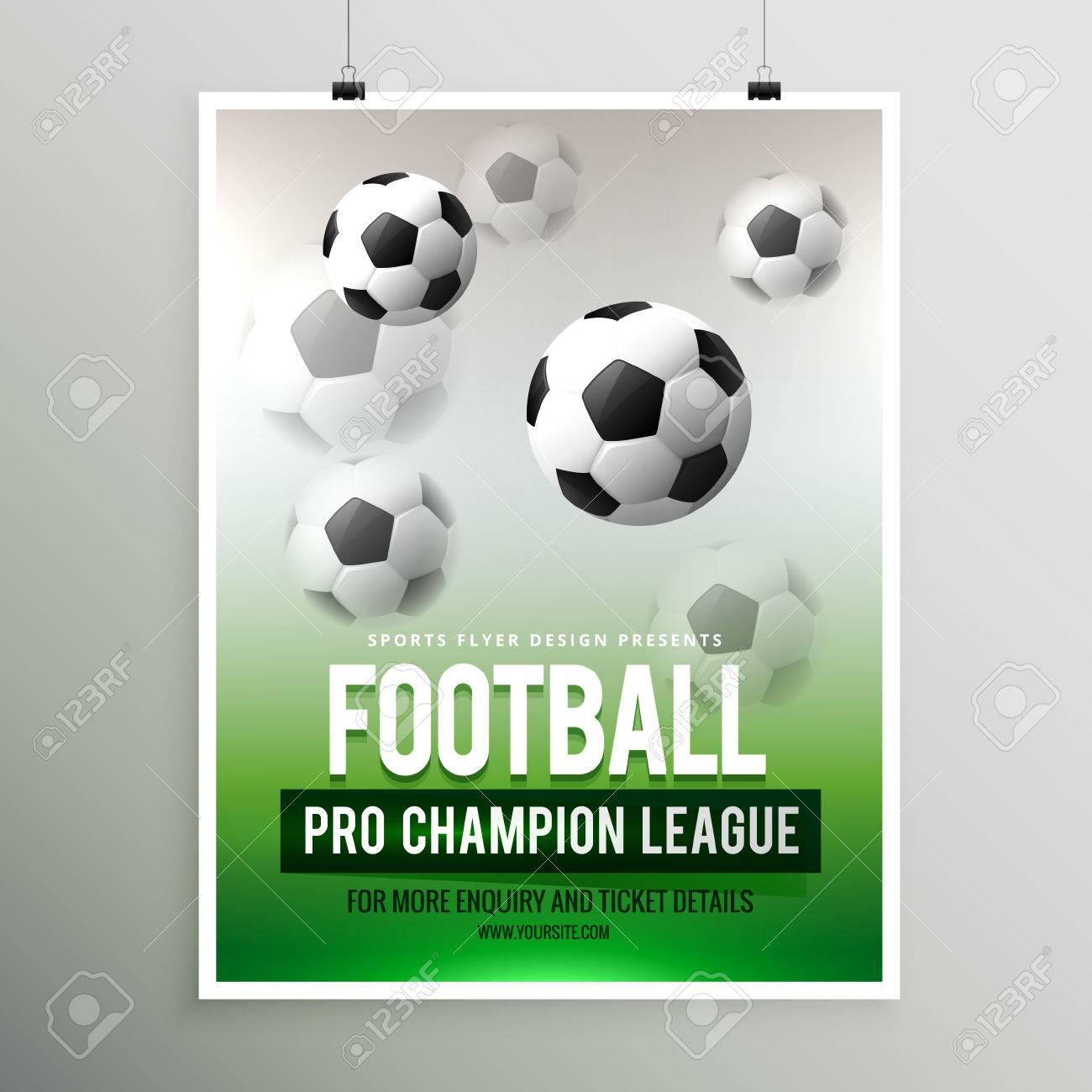 football pro championship league flyer template royalty free
