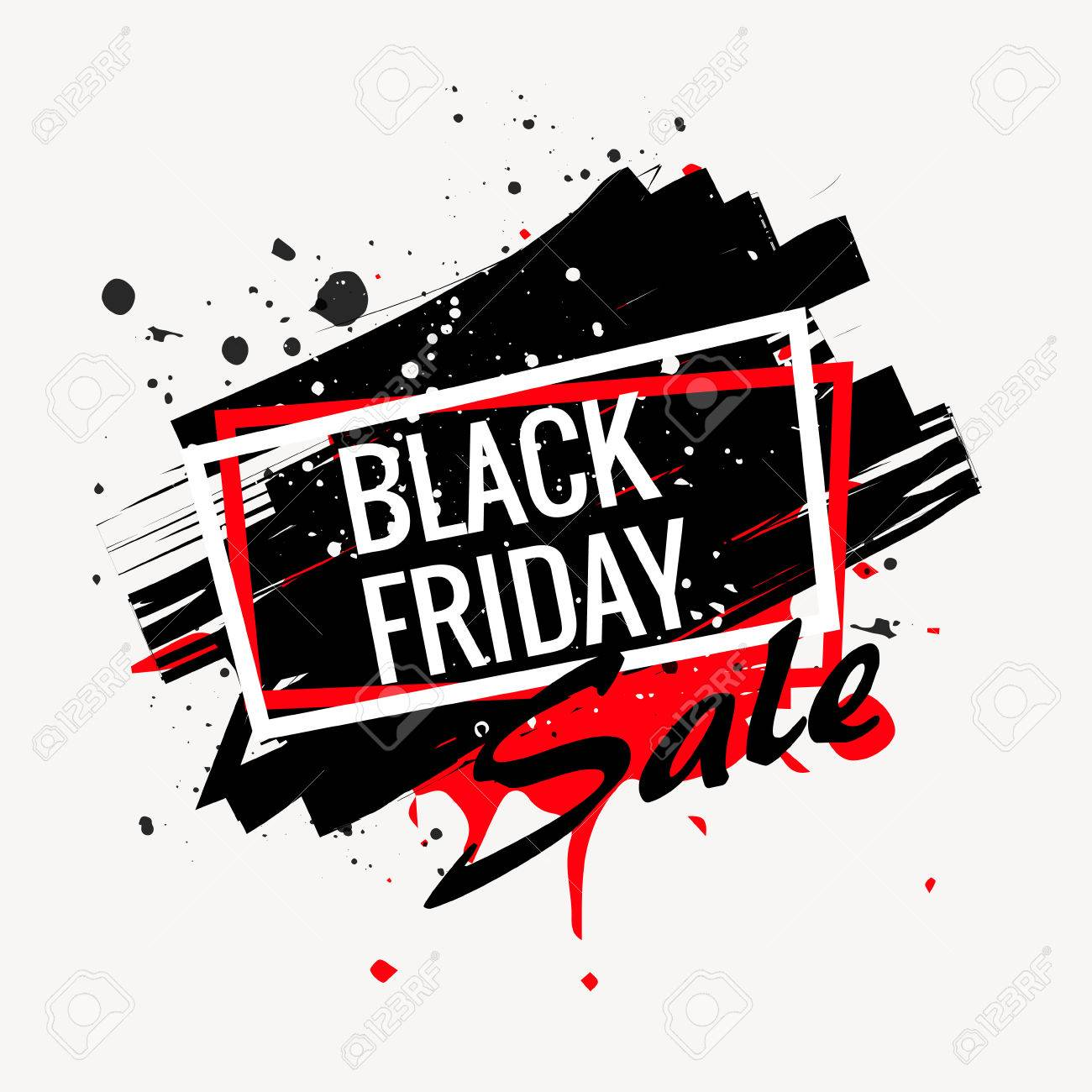abstract black friday sale poster - 60197642