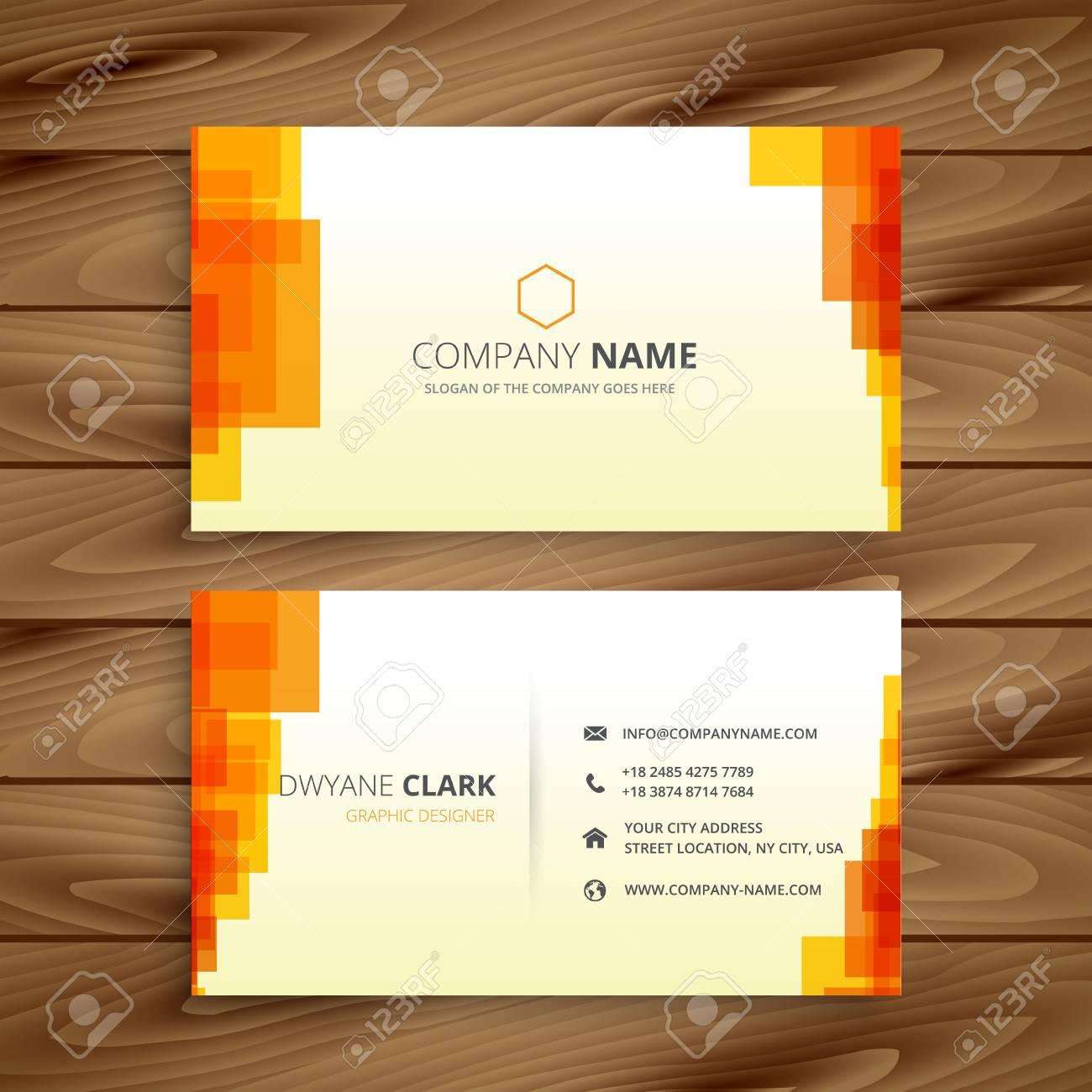 Orange Carte De Visite Pixelise Banque Dimages