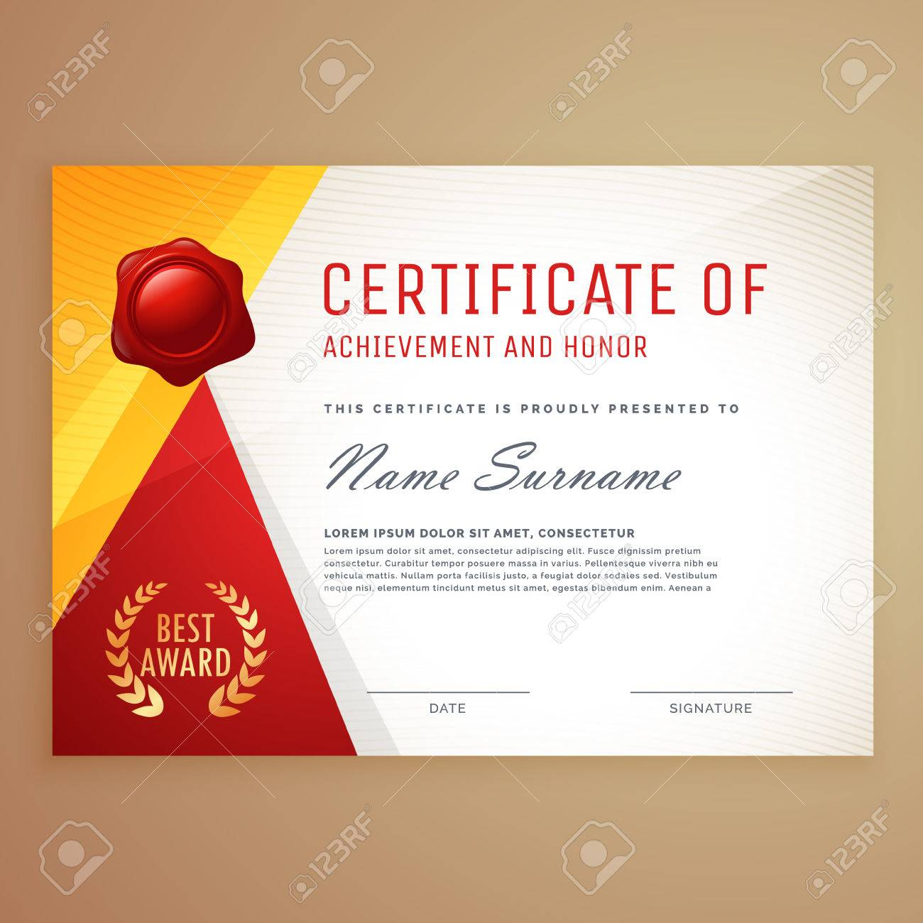Modern Certificate Template Design Royalty Free Cliparts Vectors