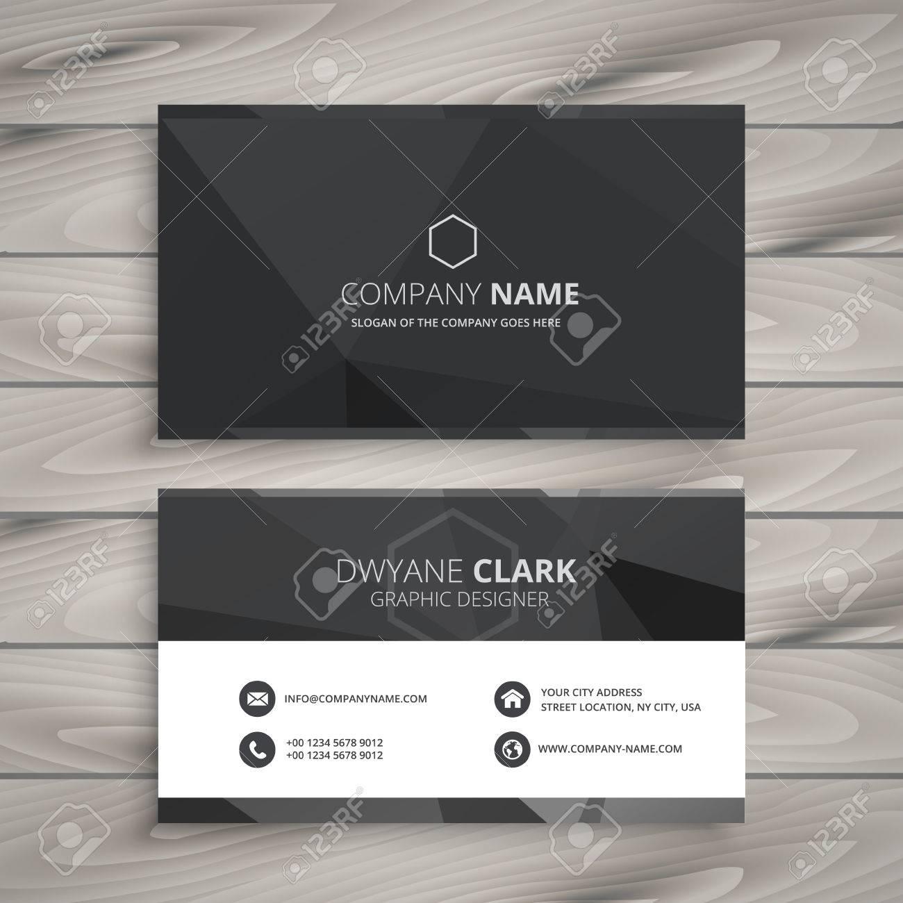 black business card design - 63826996