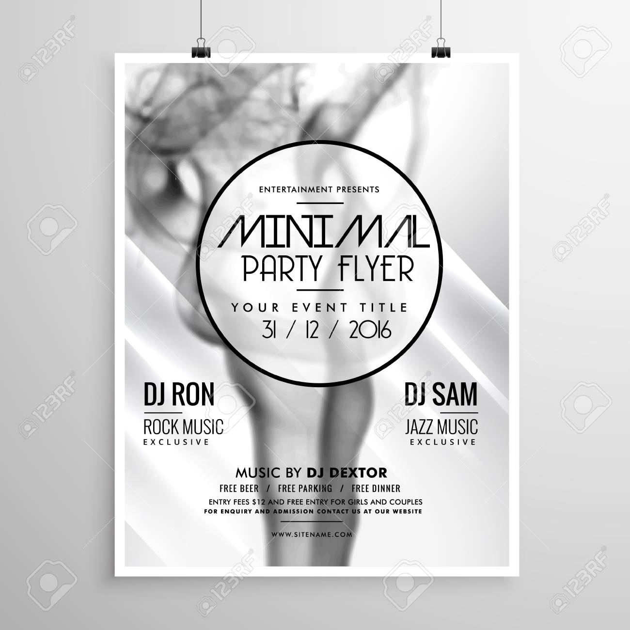 Party flyer background white