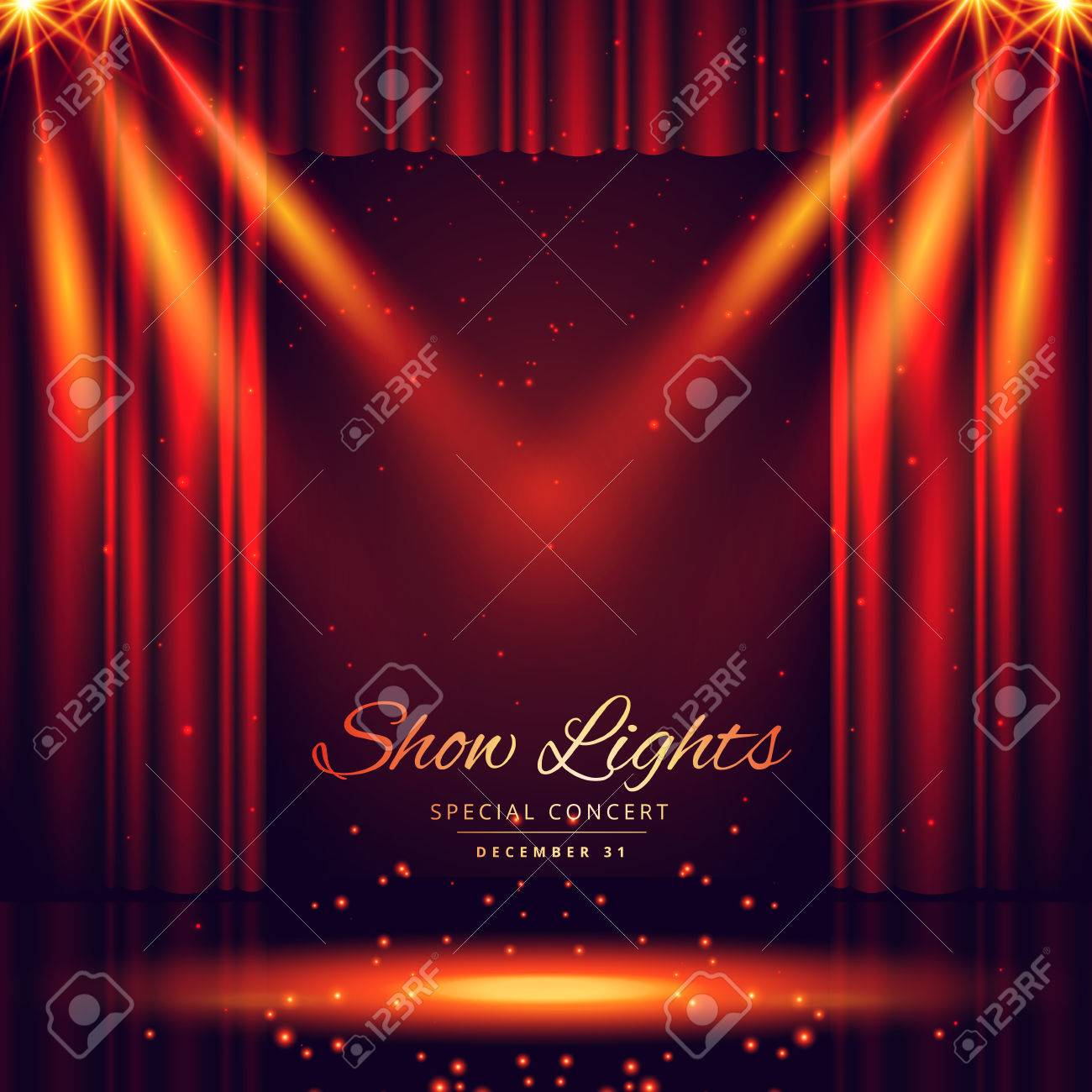 beautiful theater stage with lights focus - 63828182