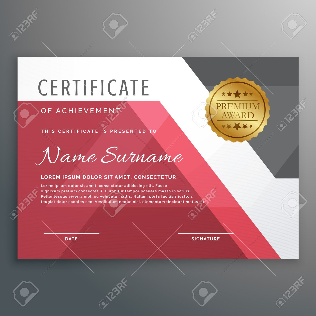Elegant certificate template with geometric shapes royalty free elegant certificate template with geometric shapes stock vector 63828321 xflitez Image collections