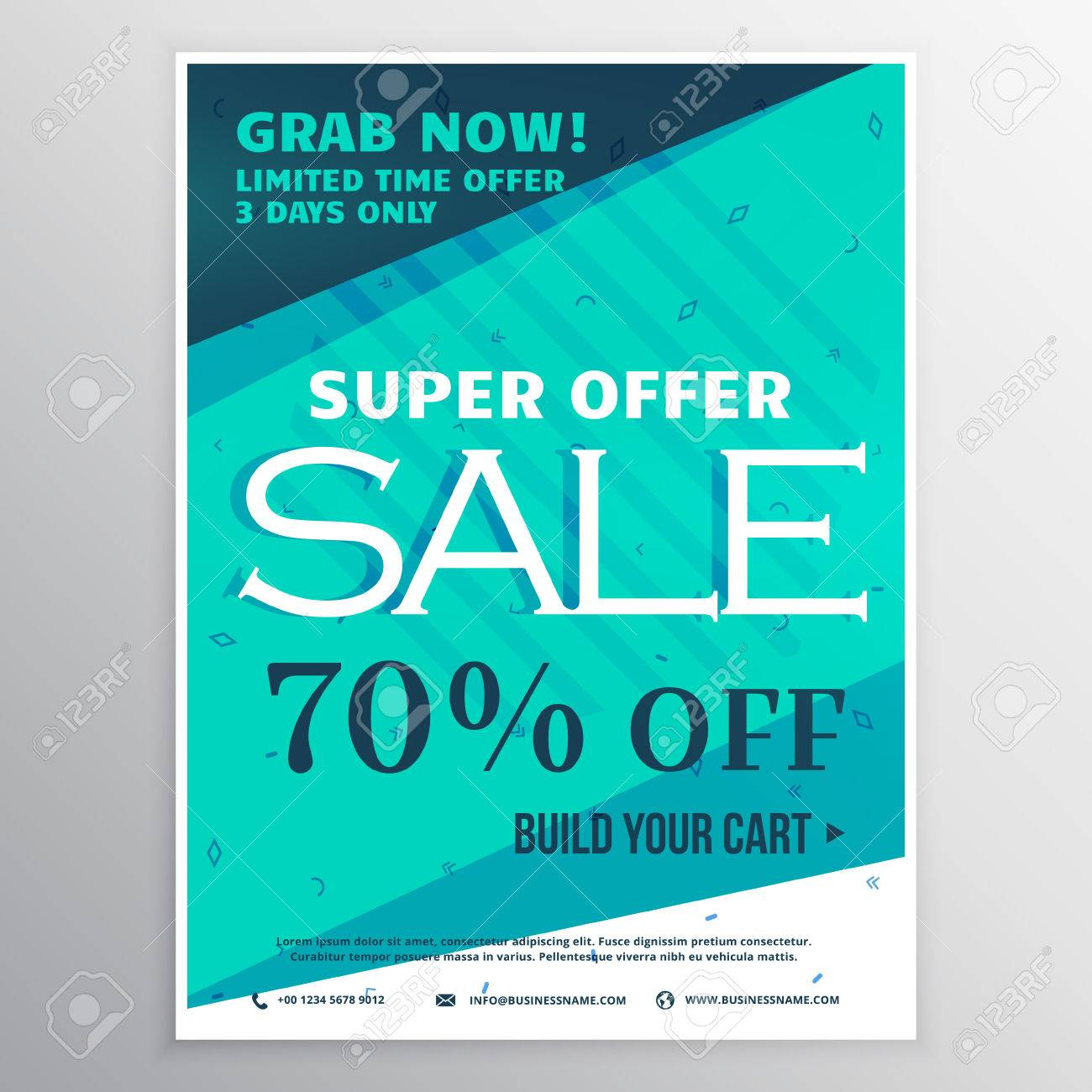 stylish blue super sale banner brochure flyer template for marketing