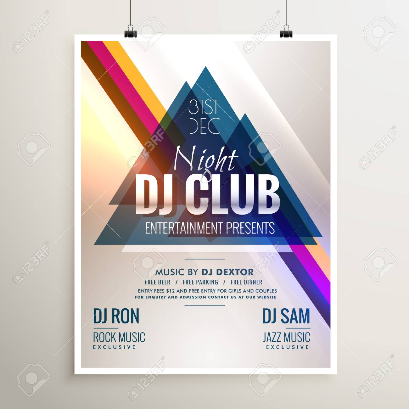Creative Club Music Party Event Flyer Template With Abstract Royalty Free Cliparts Vectors And Stock Illustration Image 66227746