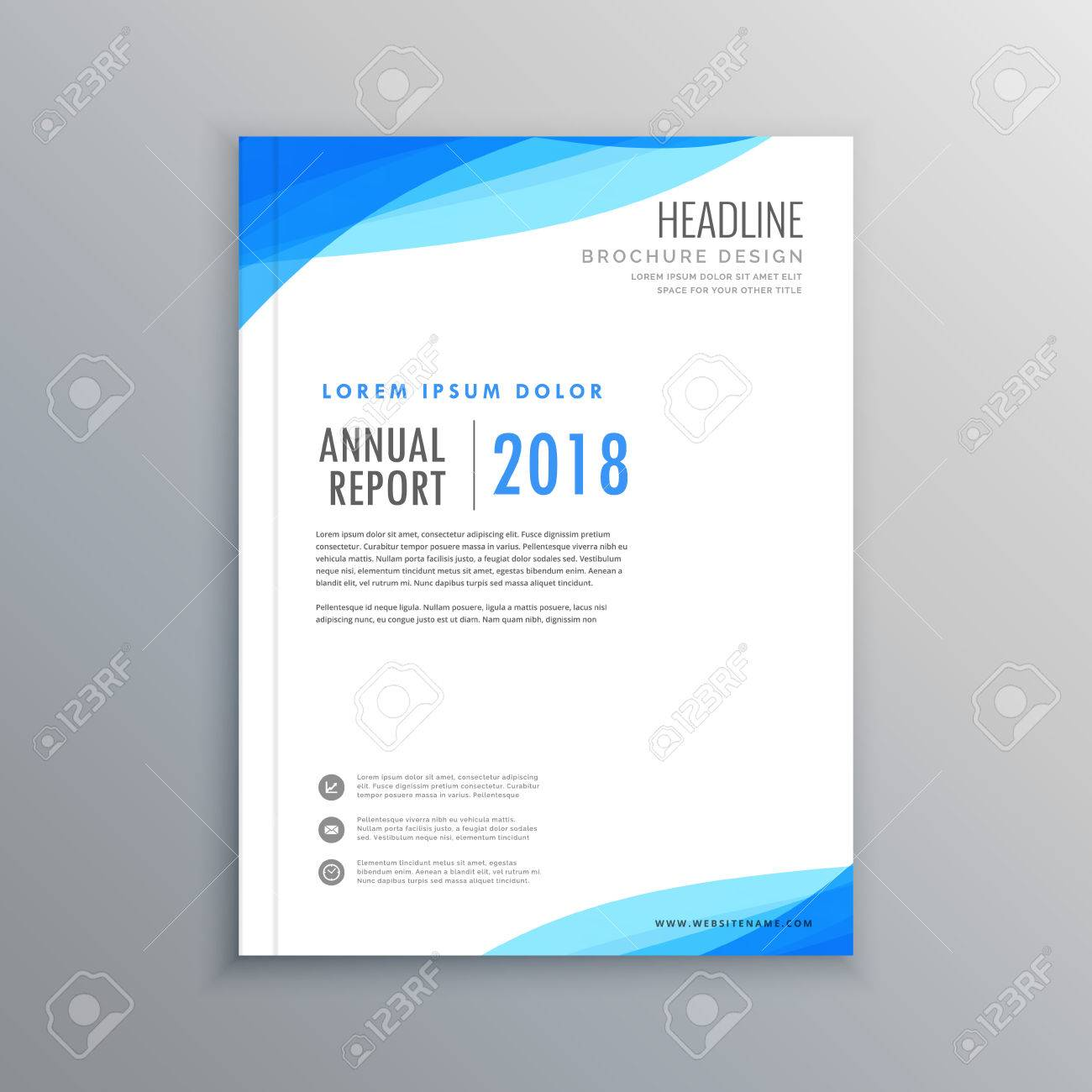 Elegant blue wave business brochure template royalty free cliparts elegant blue wave business brochure template stock vector 70005976 wajeb Image collections
