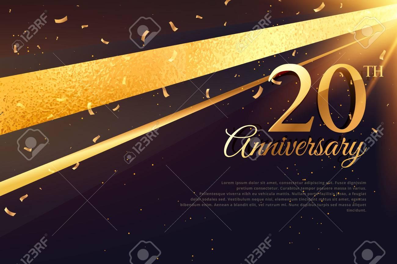 20th anniversary celebration card template - 69230831