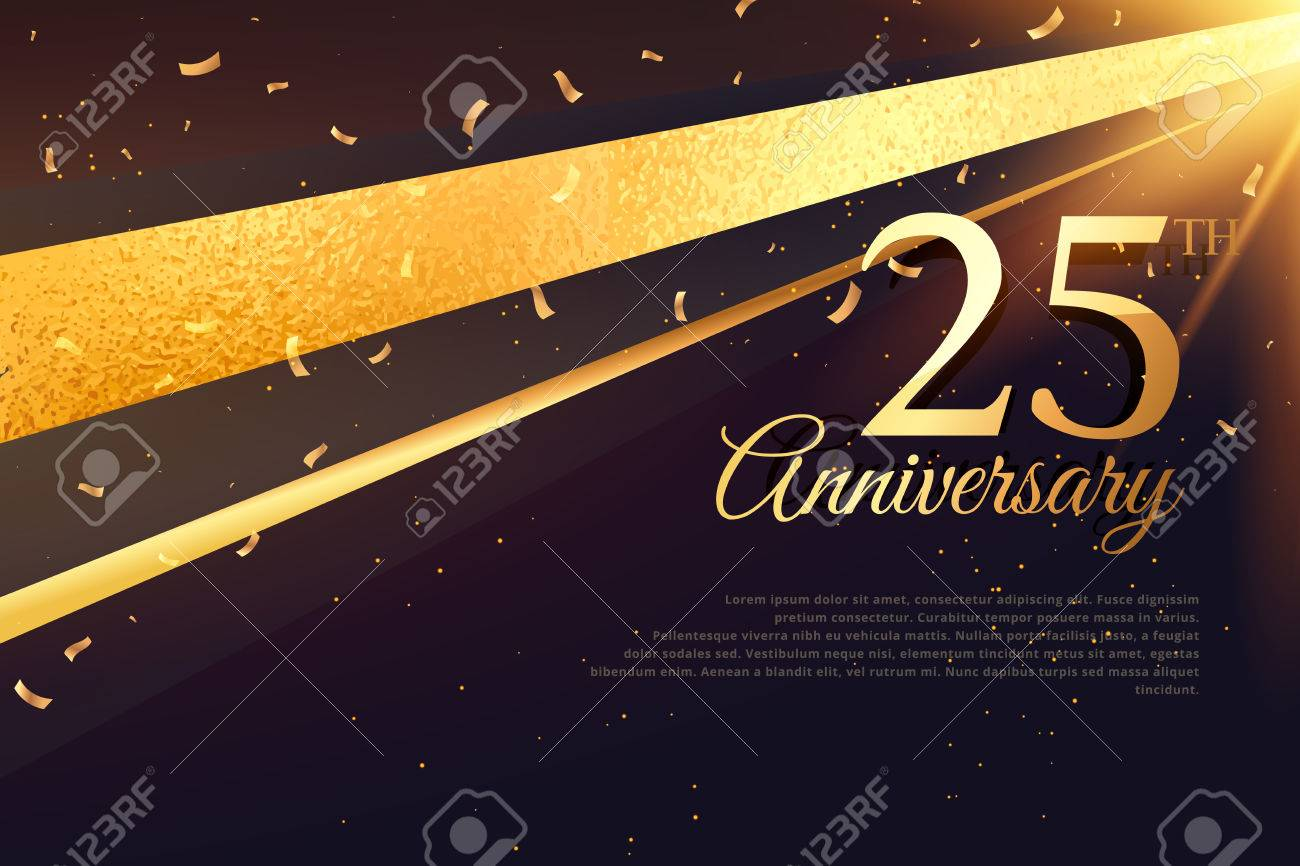 25th anniversary celebration card template - 69230839