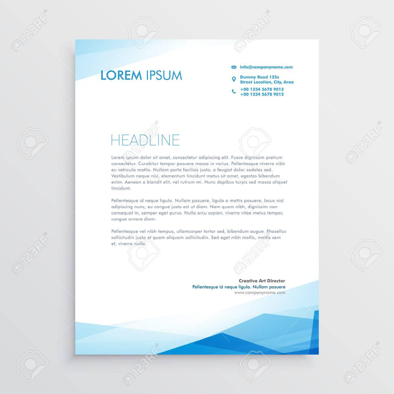Elegant blue letterhead template design royalty free cliparts elegant blue letterhead template design stock vector 69230922 spiritdancerdesigns Images