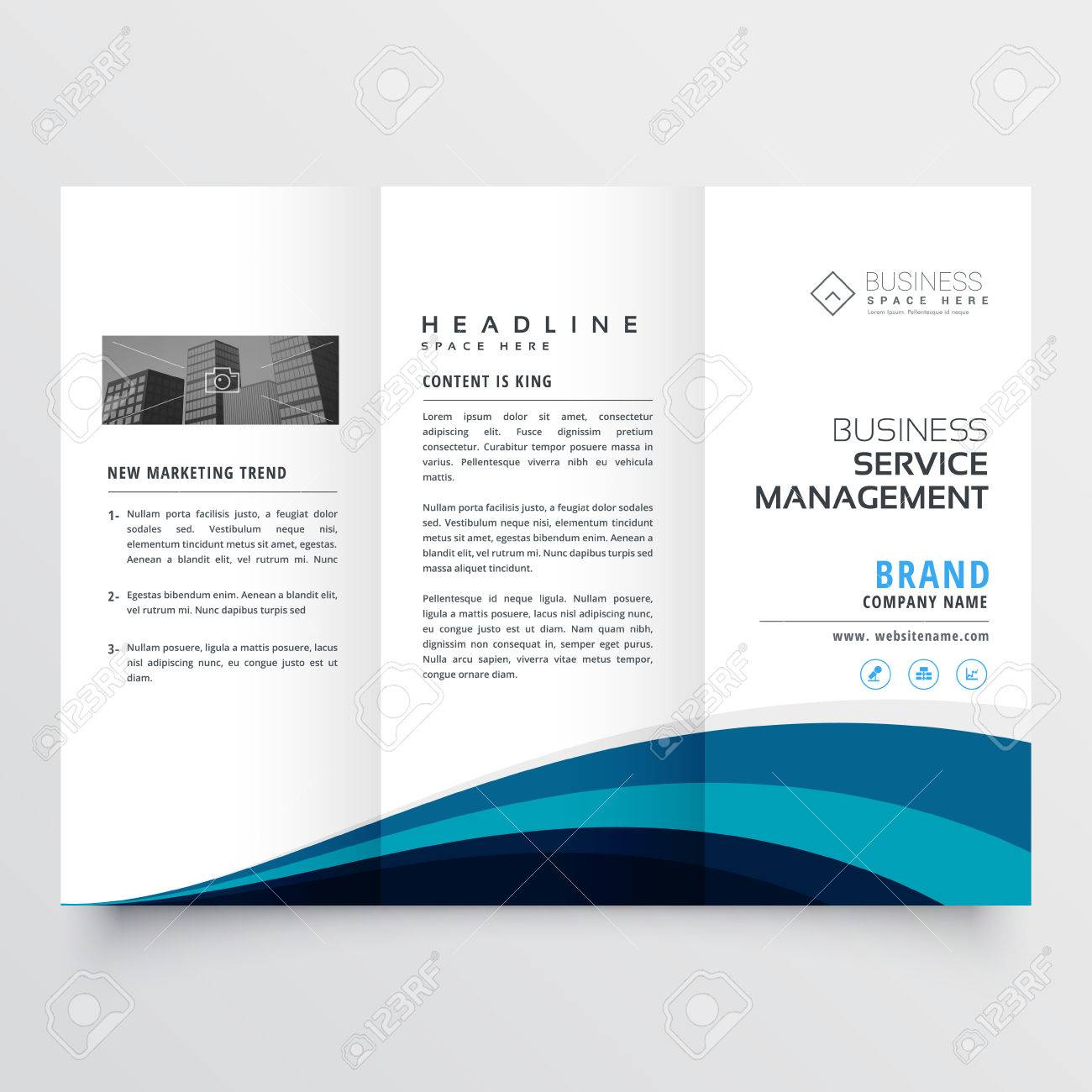 Modele De Conception Moderne De Brochure A Trois Volets Clip Art Libres De Droits Vecteurs Et Illustration Image 71499517