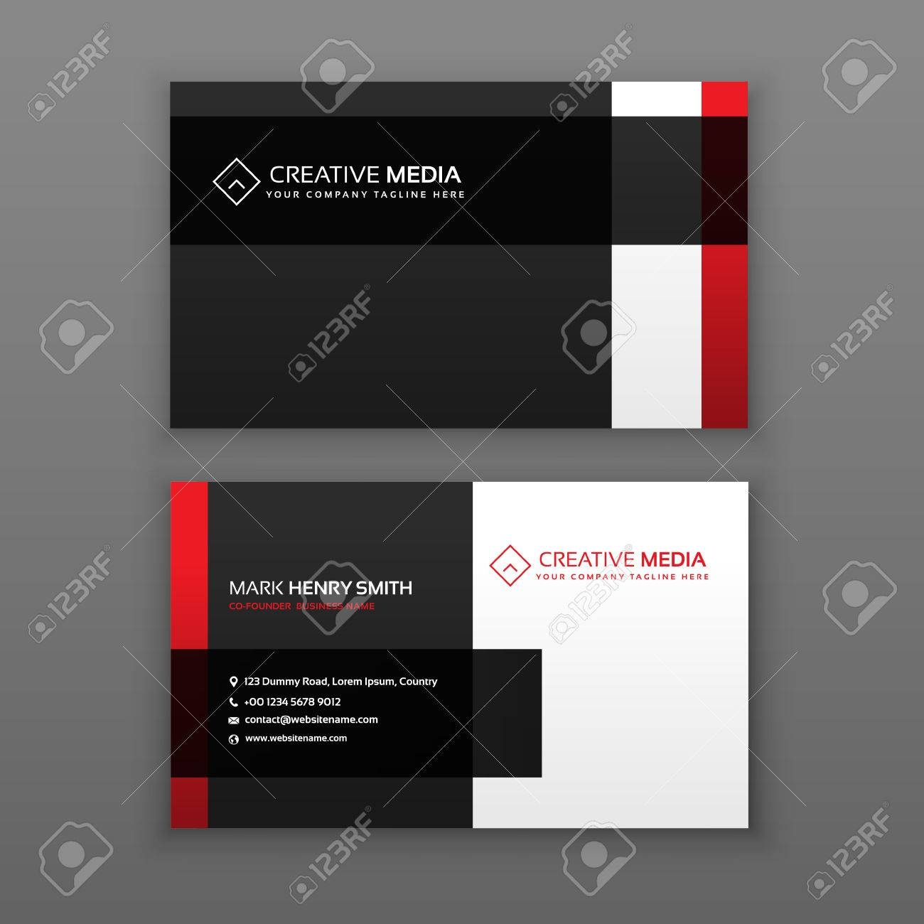 Red and black professional business card design royalty free red and black professional business card design stock vector 75398605 reheart Image collections