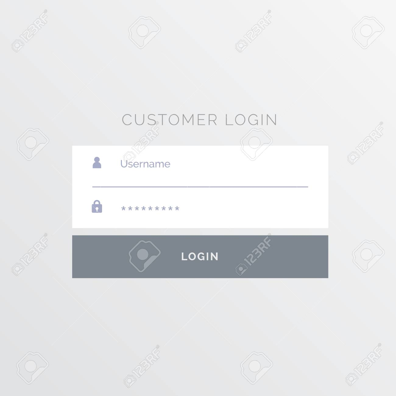 Simple White Login Form Template Design Royalty Free Cliparts