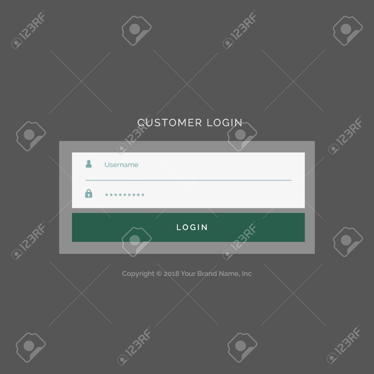 Gray Login Form Ui Design Template Royalty Free Cliparts Vectors