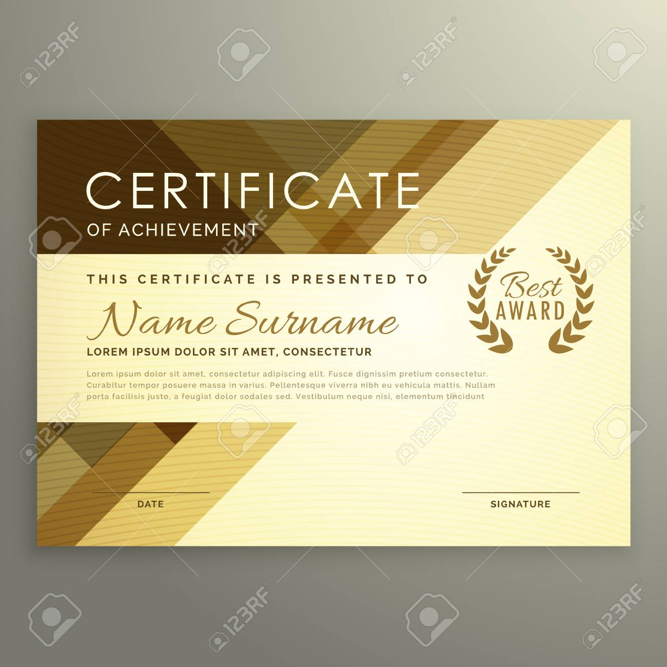 modern certificate design in premium style royalty free cliparts