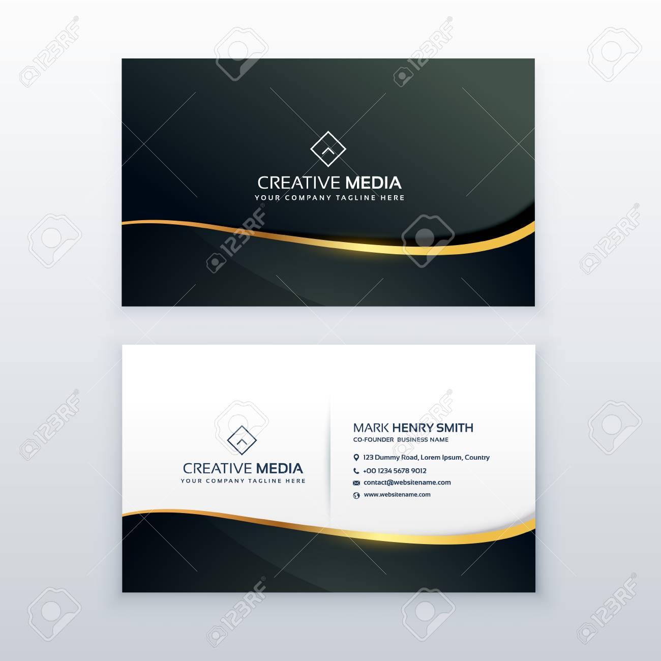 Premium Business Card Design Template Royalty Free Cliparts, Vectors ...