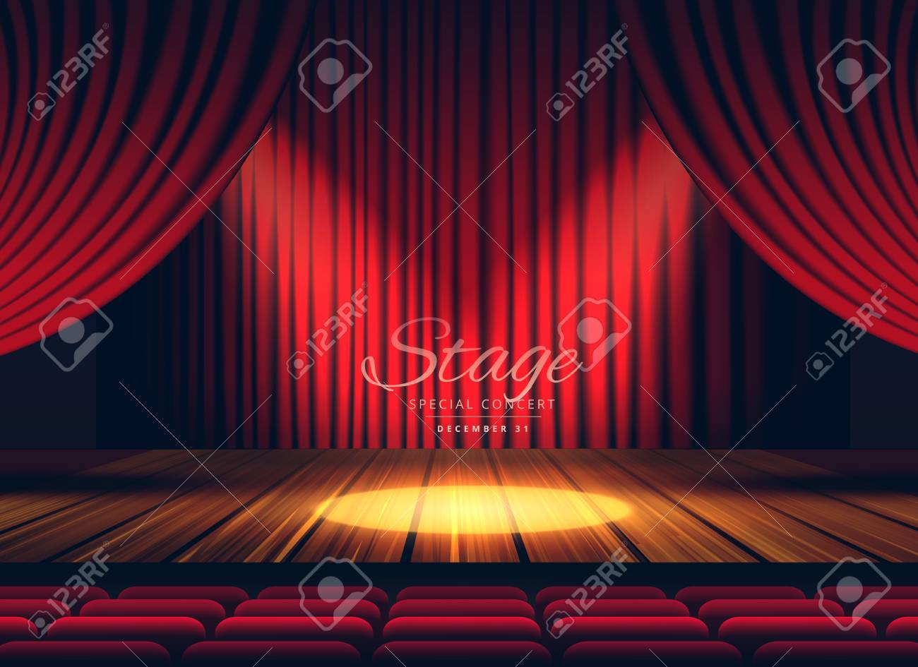 Premium Red Curtains Stage Theater Or Opera Background With Royalty Free Cliparts Vectors And Stock Illustration Image 78608626