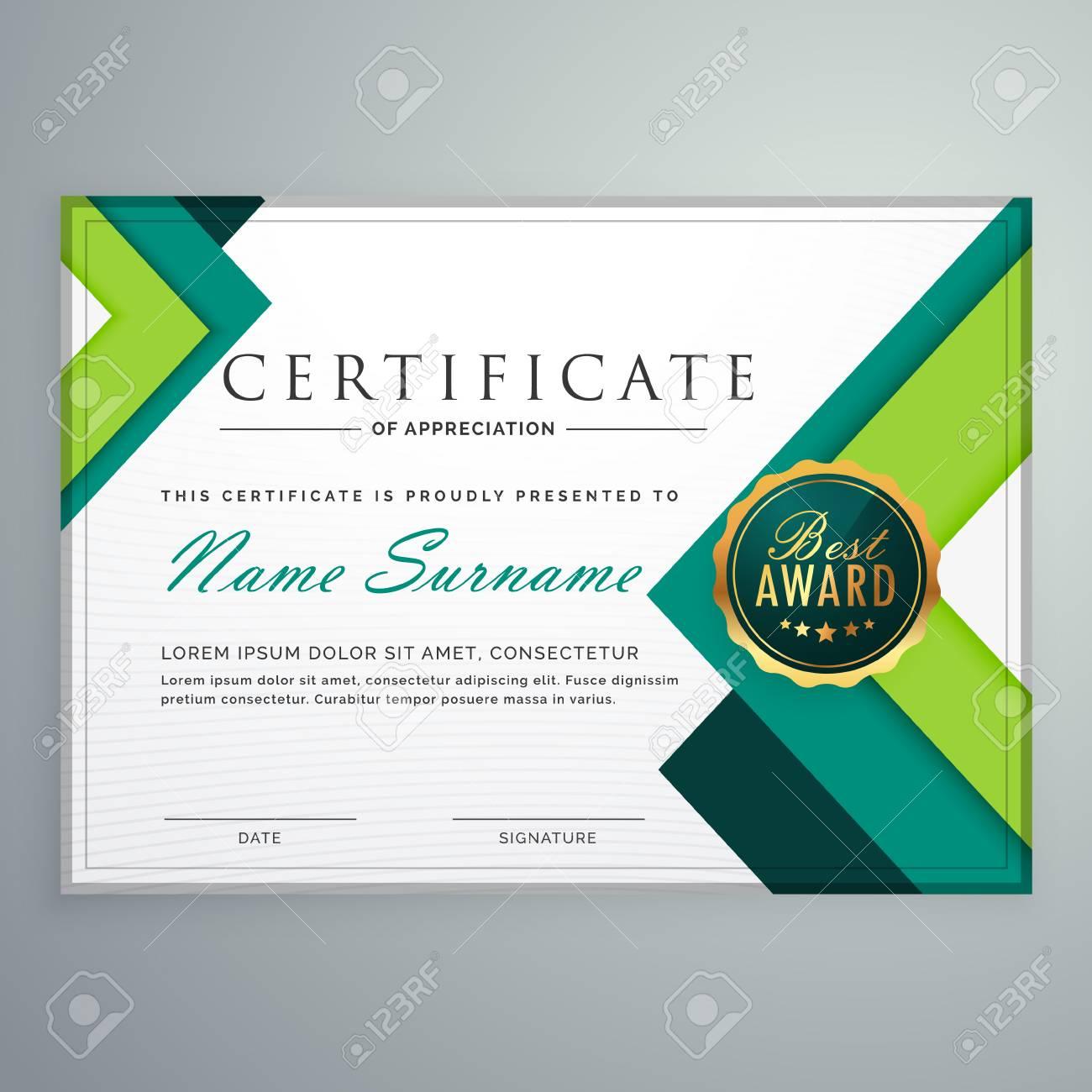 Plantilla De Diseño De Certificado De Forma Geométrica Moderna ...