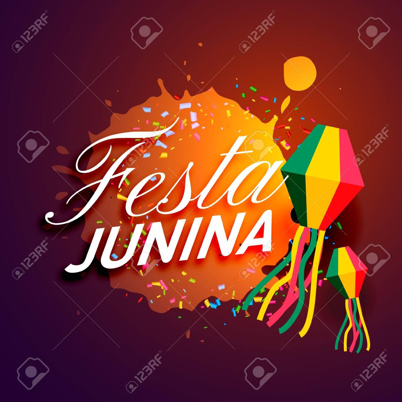 Fiesta De Diseño De Tarjeta De Invitación De Festival De Festa Junina
