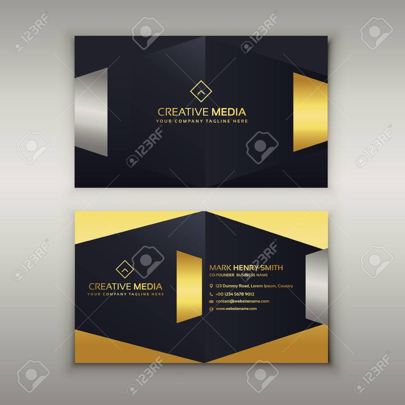 Modle De Conception Carte Visite Premium Luxe Clip Art
