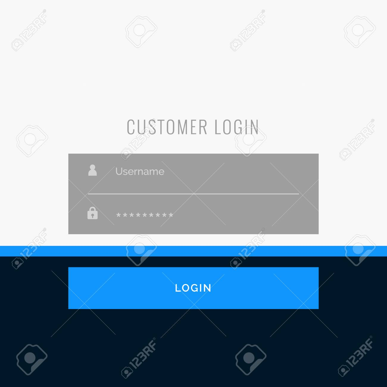 Flat Login Form Template Design For Your Web Or App Projects Royalty ...