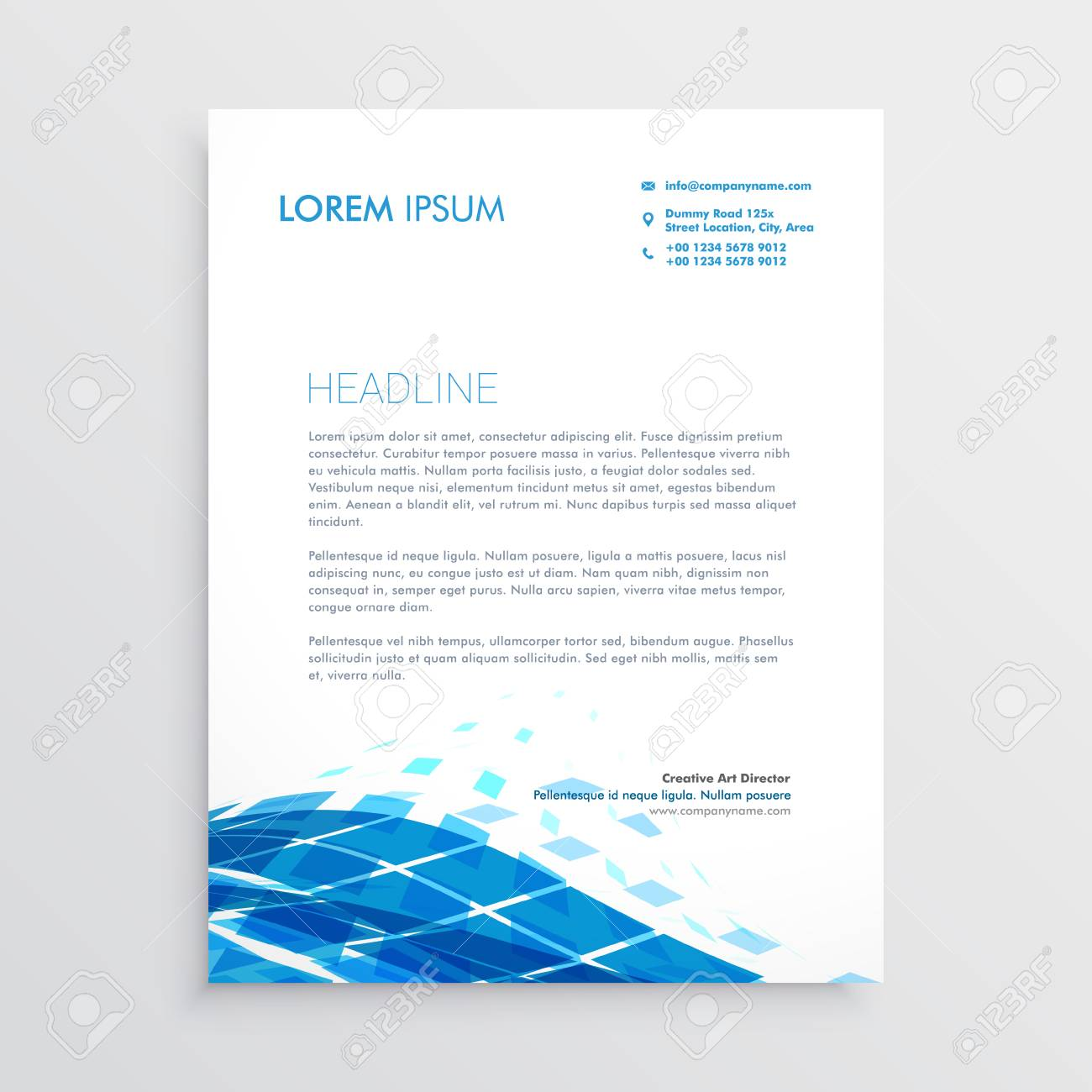 Modern letterhead template design with blue abstract wavy shape modern letterhead template design with blue abstract wavy shape stock vector 82117726 spiritdancerdesigns Gallery
