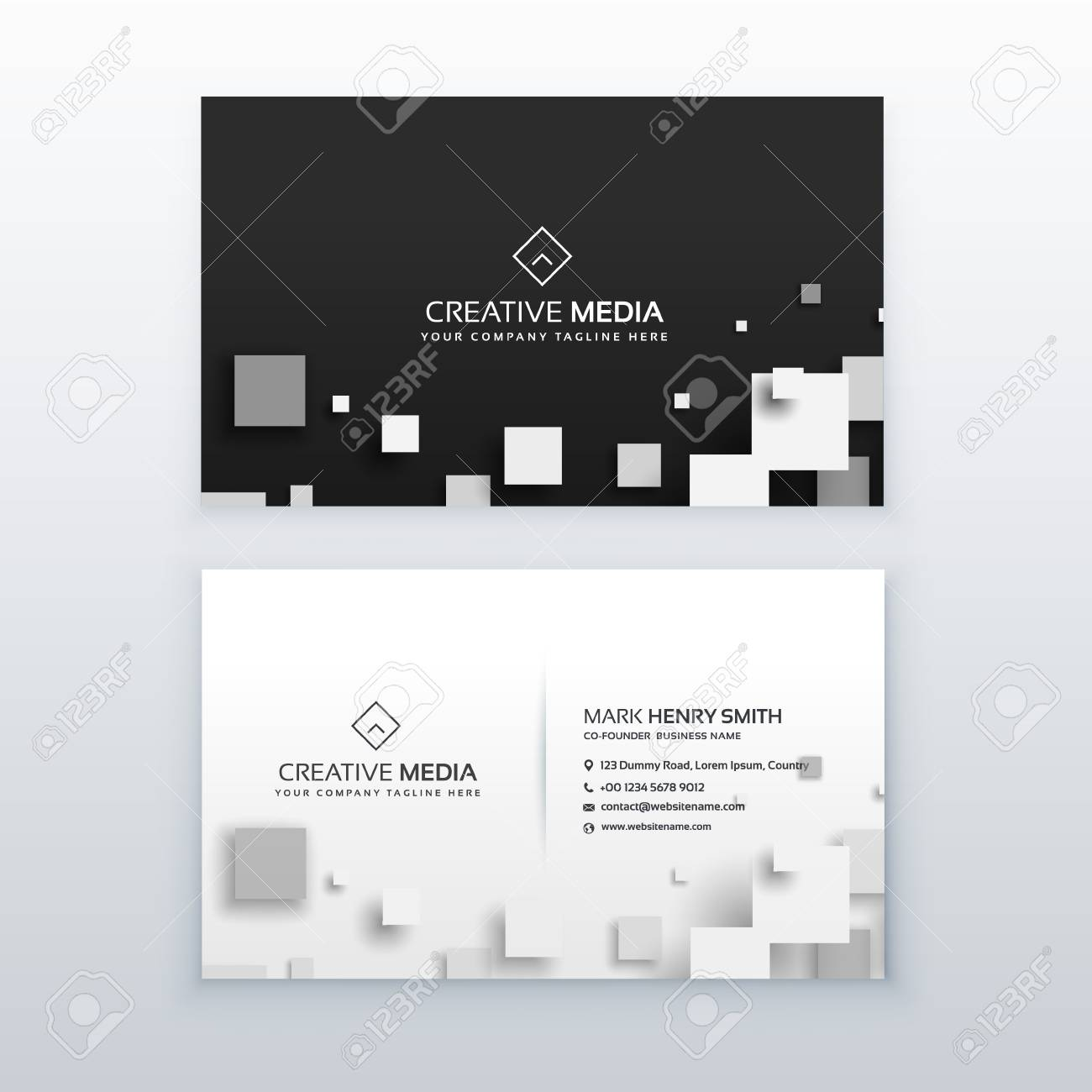 A vector 3d square business card design royalty free cliparts a vector 3d square business card design stock vector 84632494 colourmoves