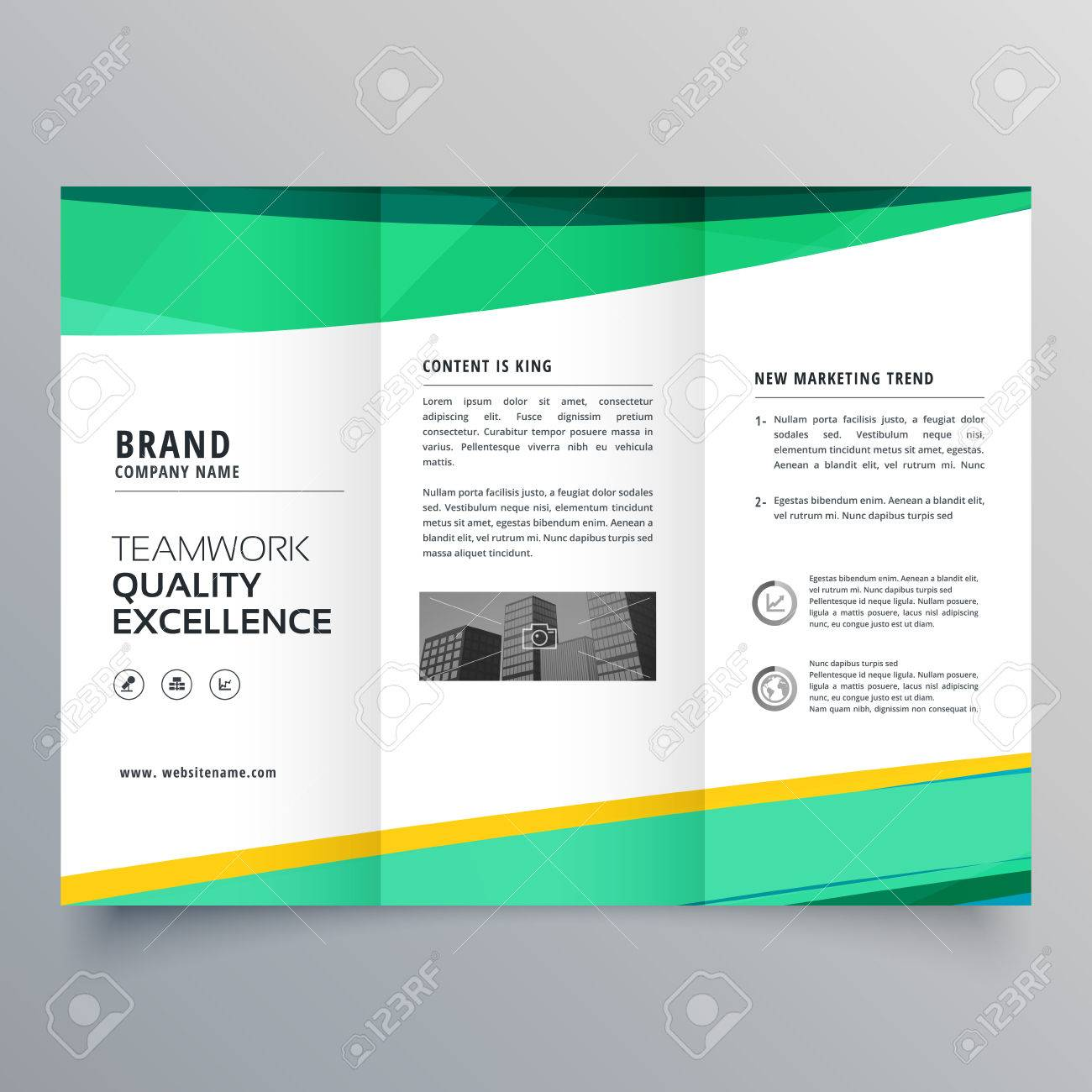 creative trifold brochure design template for your business royalty