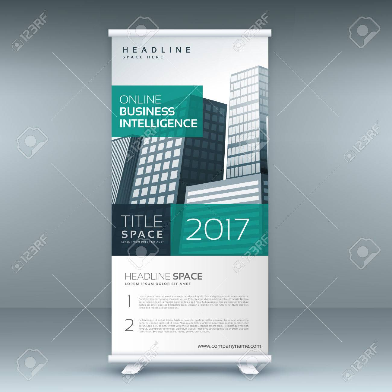 Modern Standee Rollup Banner Design Template Royalty Free Cliparts ...