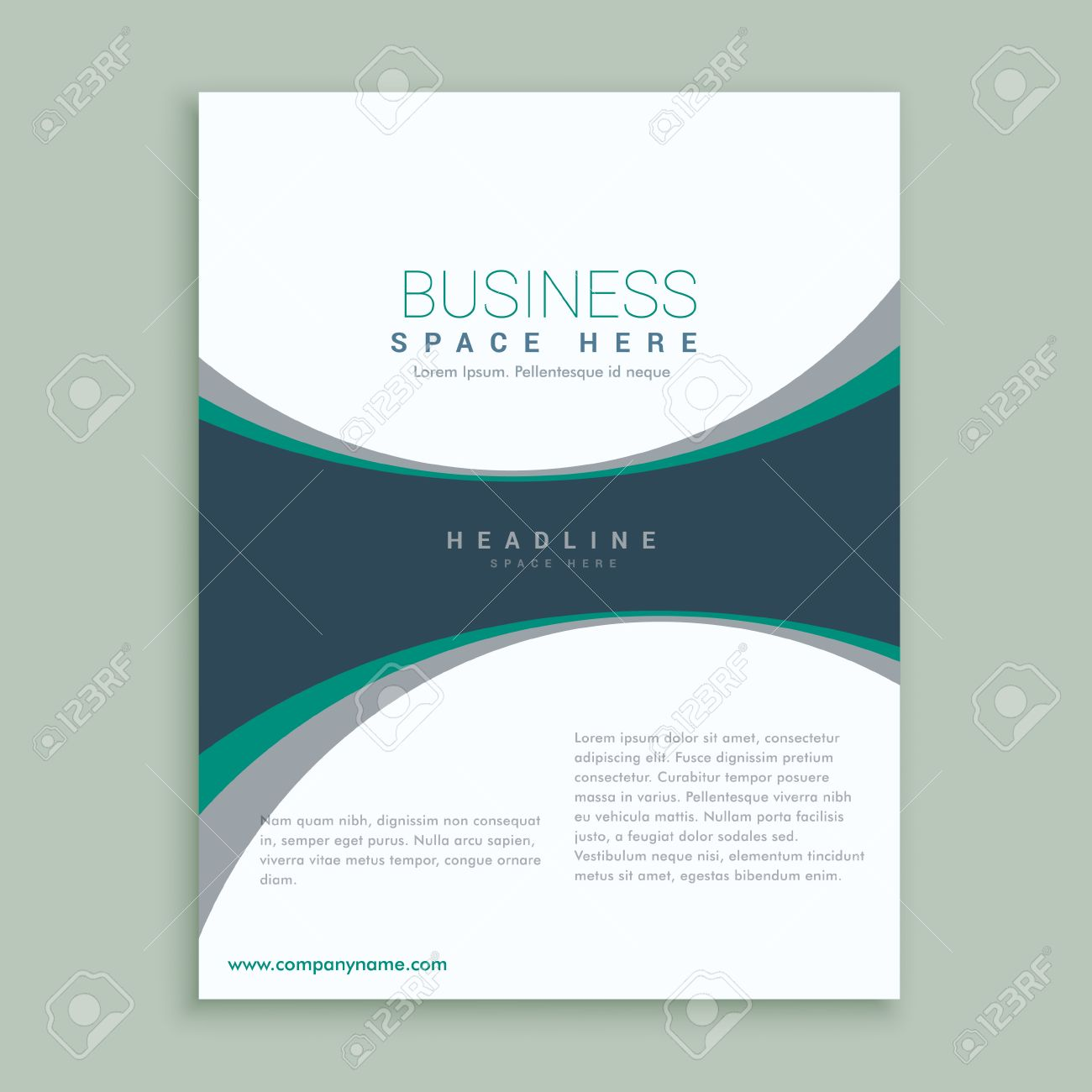 Elegant Magazine Cover Page Or Brochure Design Template