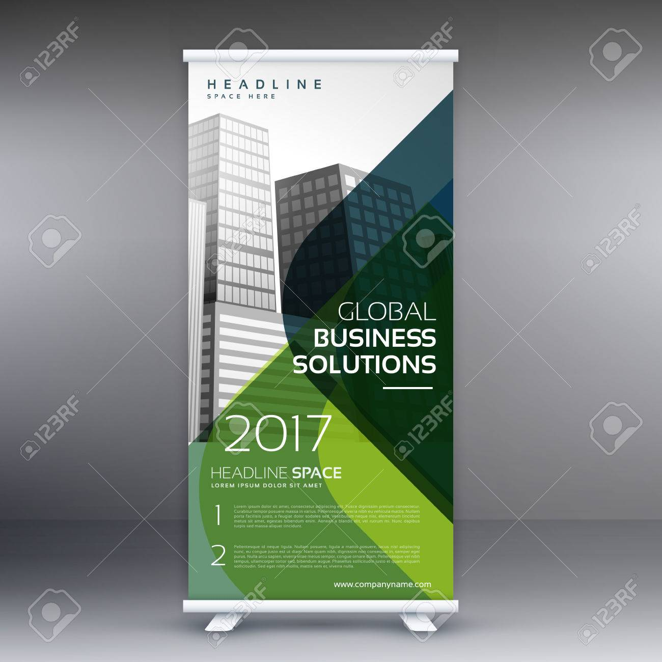 Creative Standee Rol Up Display Banner Vector Template Design ...