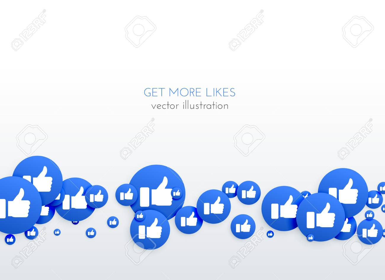 social media network blue likes thumb up icons background - 90870105