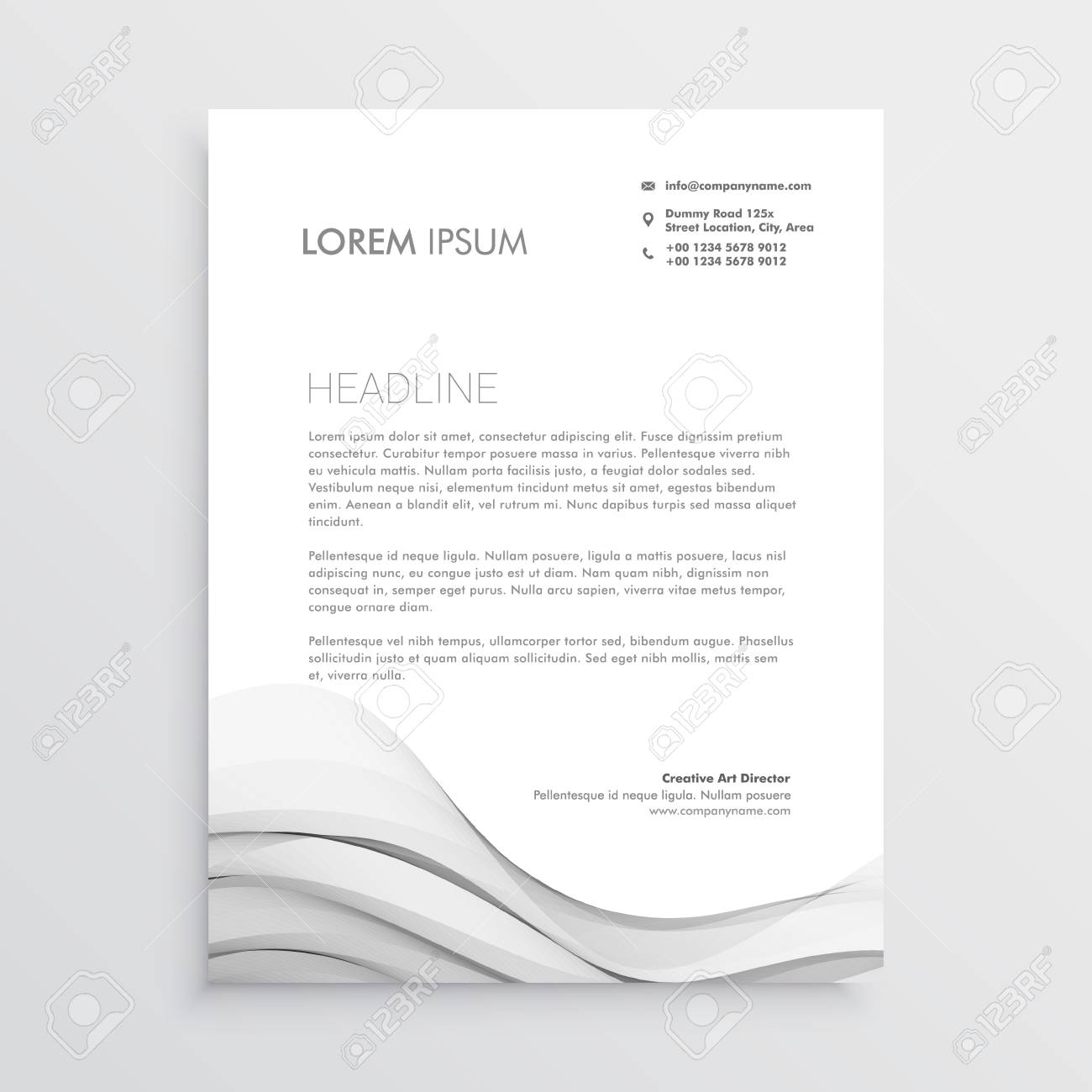 Clean letterhead vector design template royalty free cliparts clean letterhead vector design template stock vector 95821674 spiritdancerdesigns Image collections