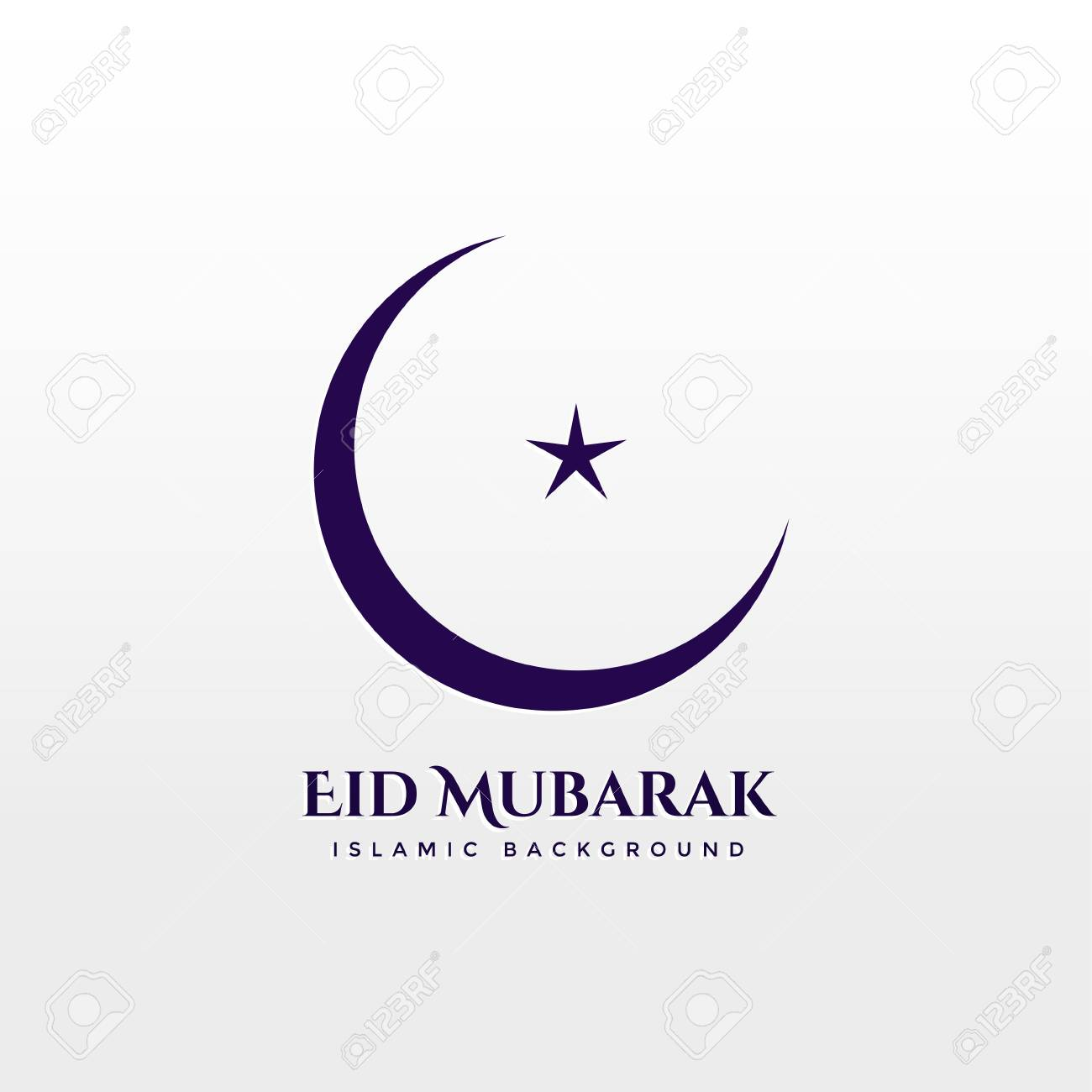 crescent moon with star on white background eid mubarak royalty free cliparts vectors and stock illustration image 99376251 crescent moon with star on white background eid mubarak
