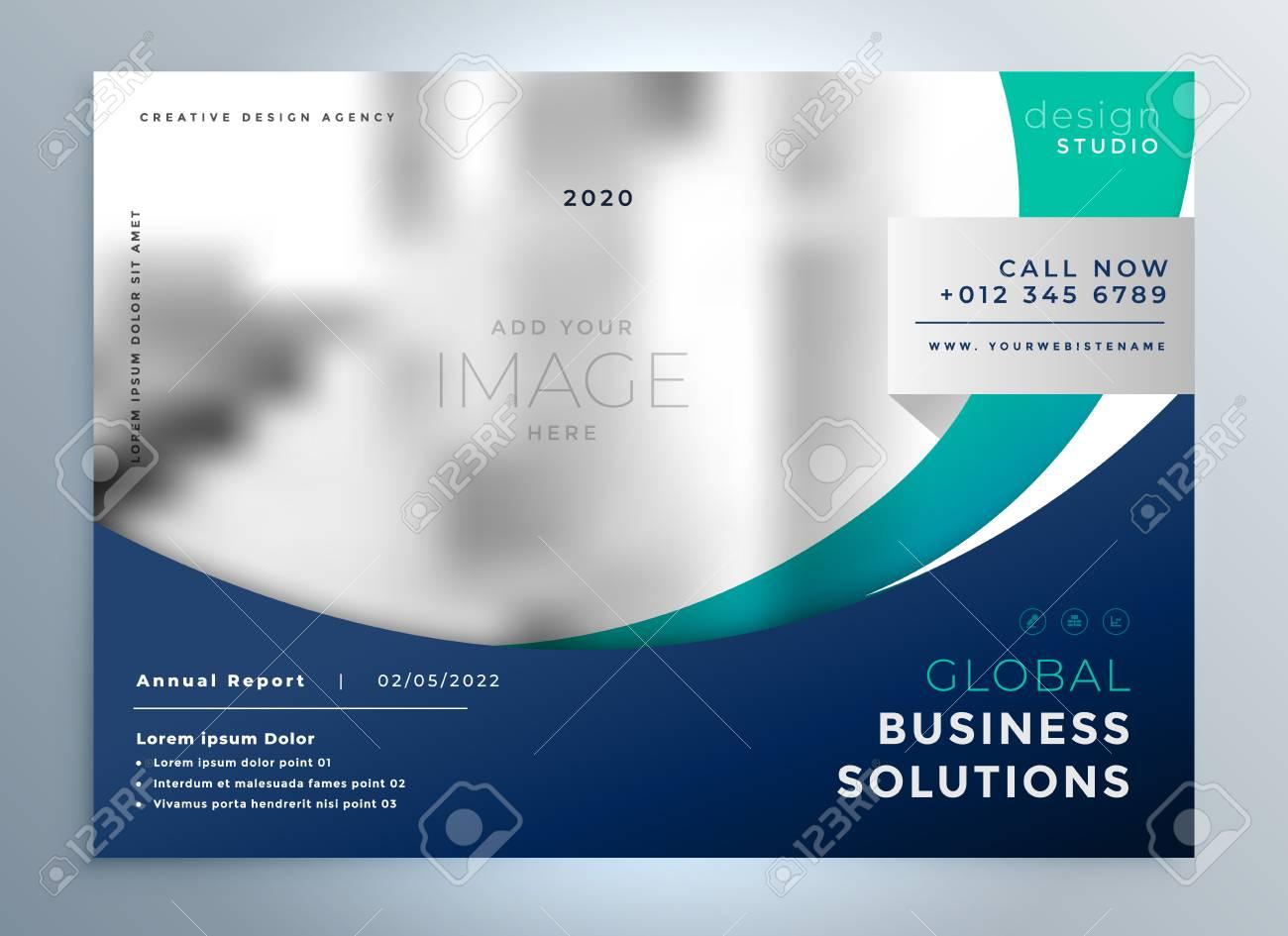 Business brochure modern presentation background - 100874864