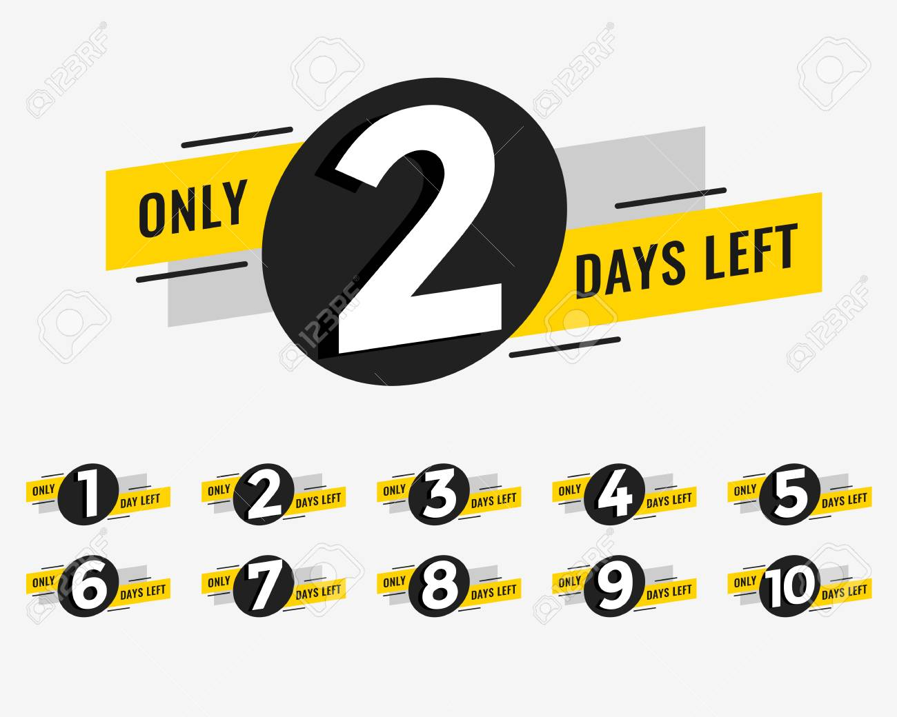 promotional banner with number of days left sign - 106308006