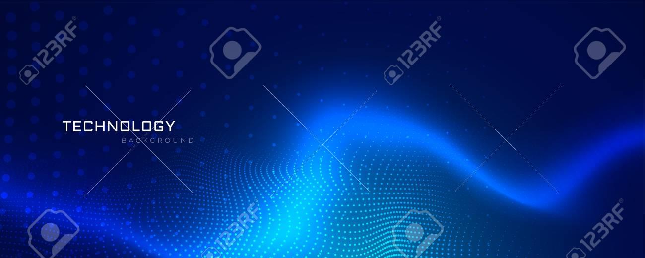 abstract blue technology banner design - 109817890